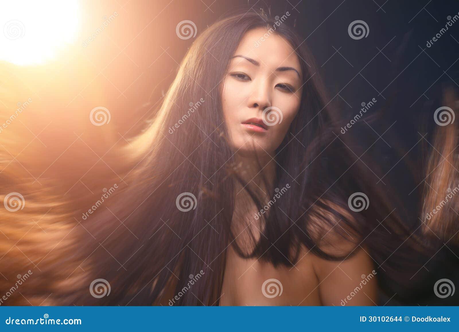 Retrato de la mujer asiática