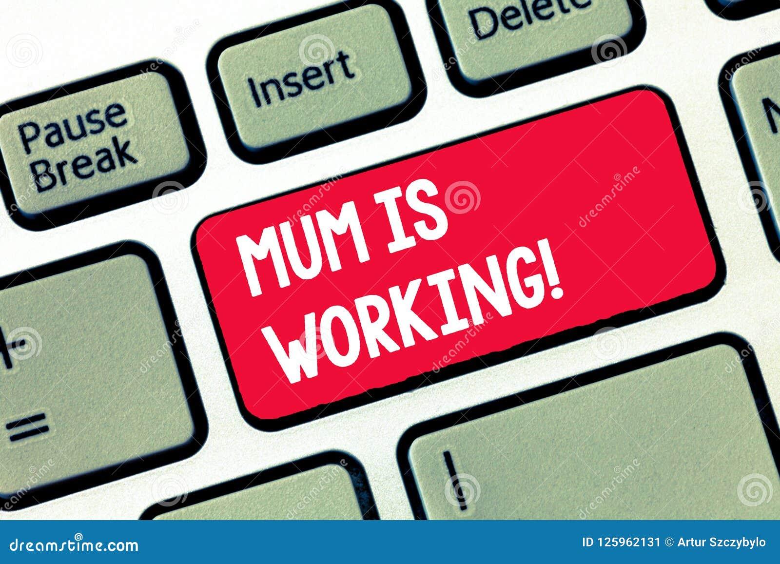 La momia de la escritura del texto de la escritura está trabajando Concepto que significa la capacitación financiera y a la madre