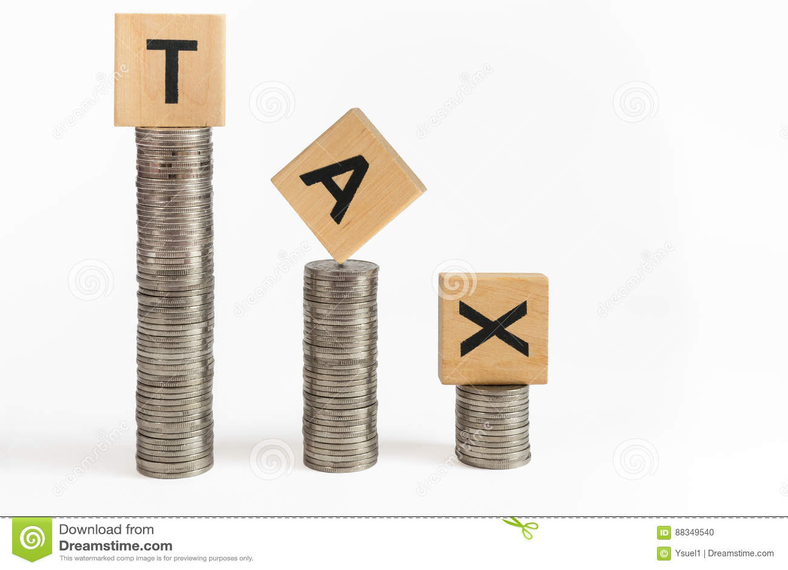 La moneda apila impuesto