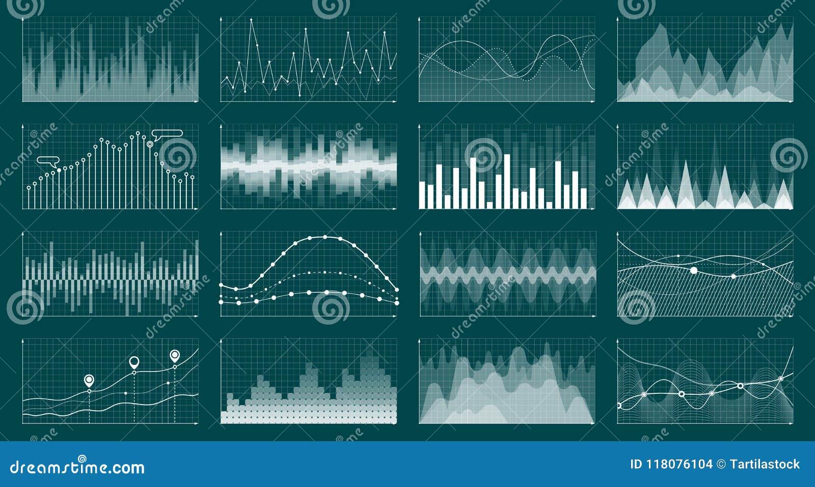 La moneda crece la carta Diagrama común del gráfico, finanzas y gráficos económicos del estudio de mercado La economía del anális