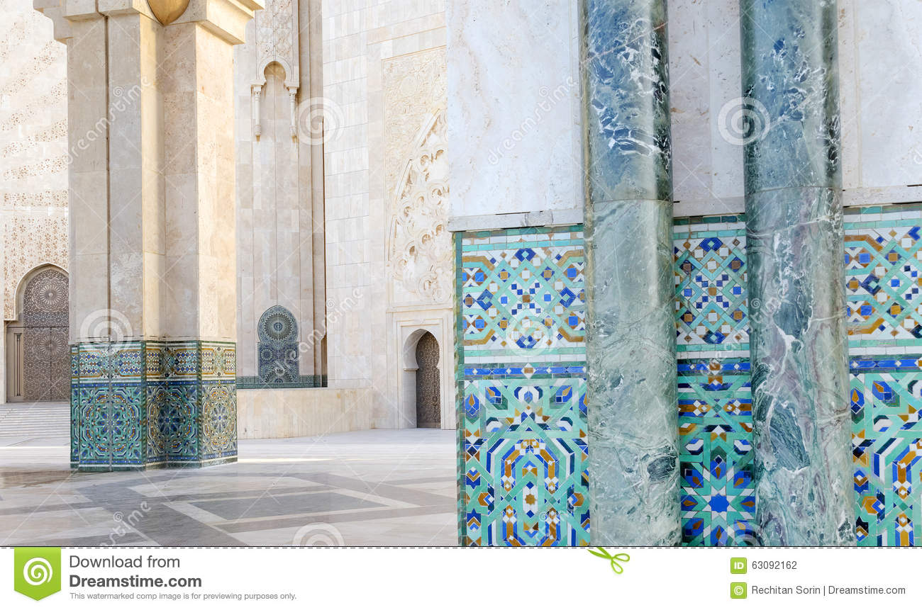 Download La mosquée de Hassan II photo stock. Image du destination - 63092162