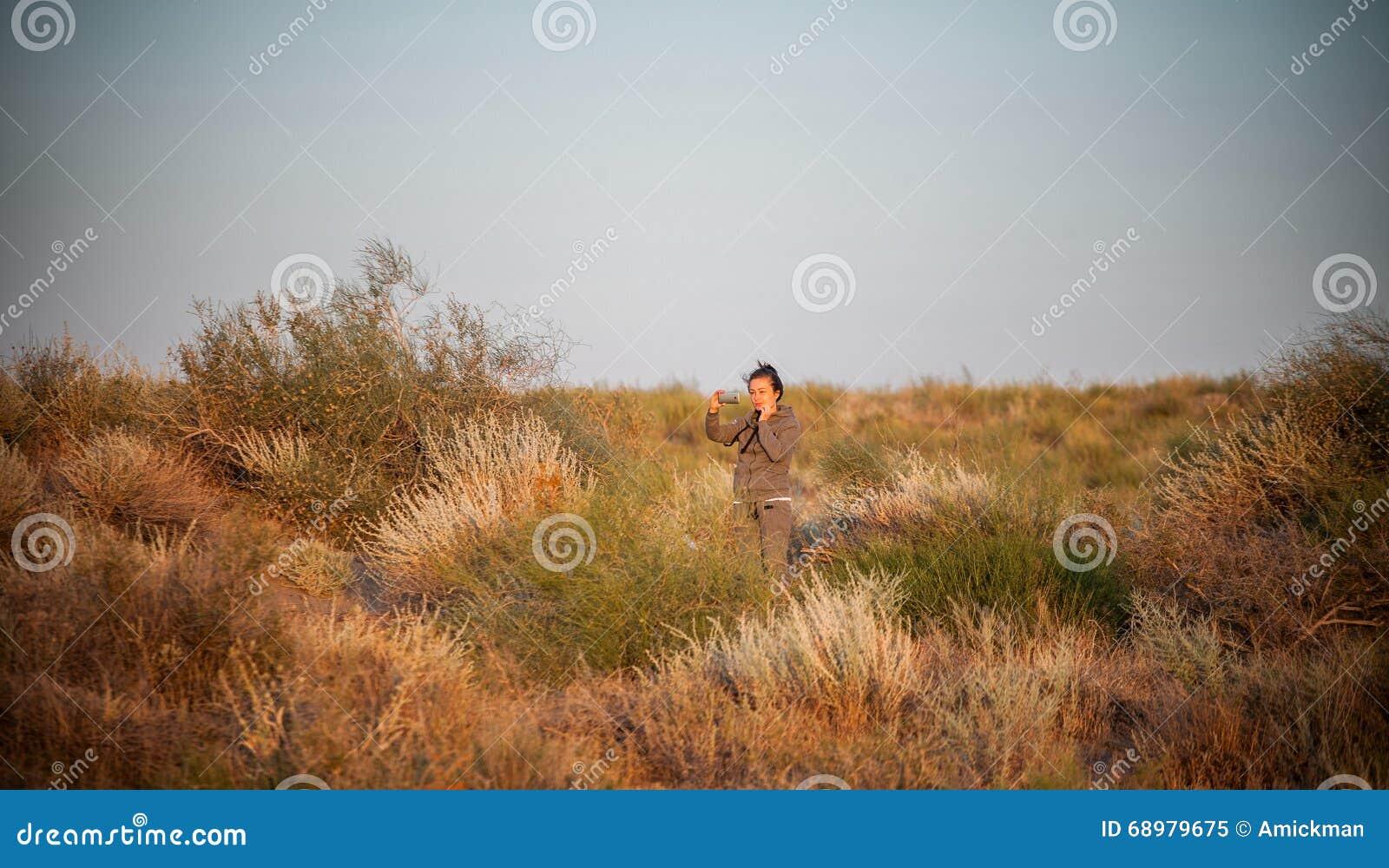 La muchacha en el desierto