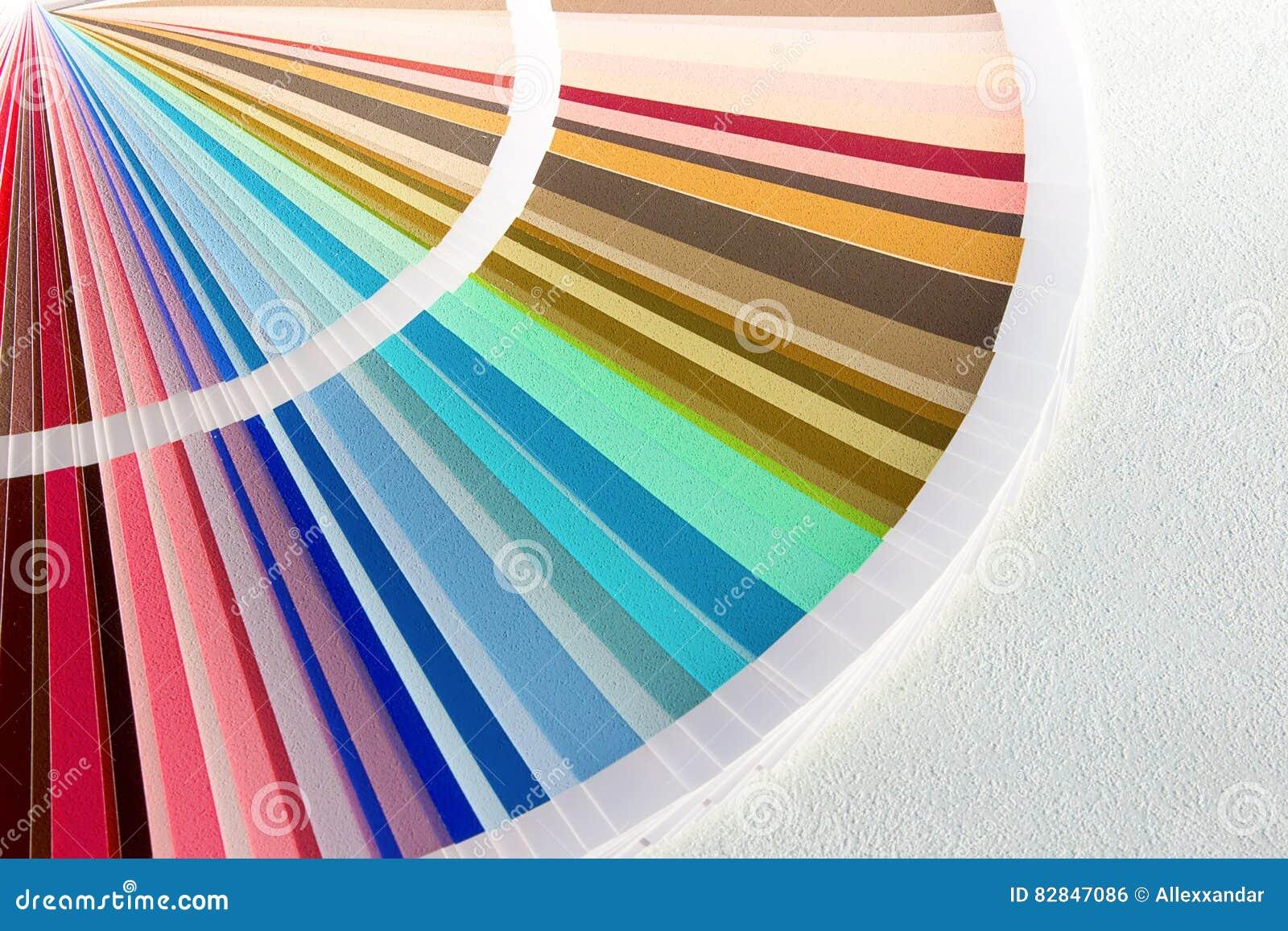 La Muestra Colorea El Catálogo Guía De La Gama De Colores De Color ...