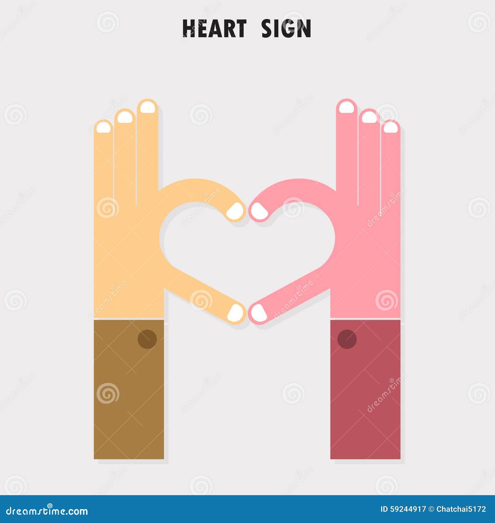 Download La Muestra Creativa De La Mano Y El Logotipo Abstracto Del Vector Del Corazón Diseñan Mano H Ilustración del Vector - Ilustración de cómodo, logro: 59244917