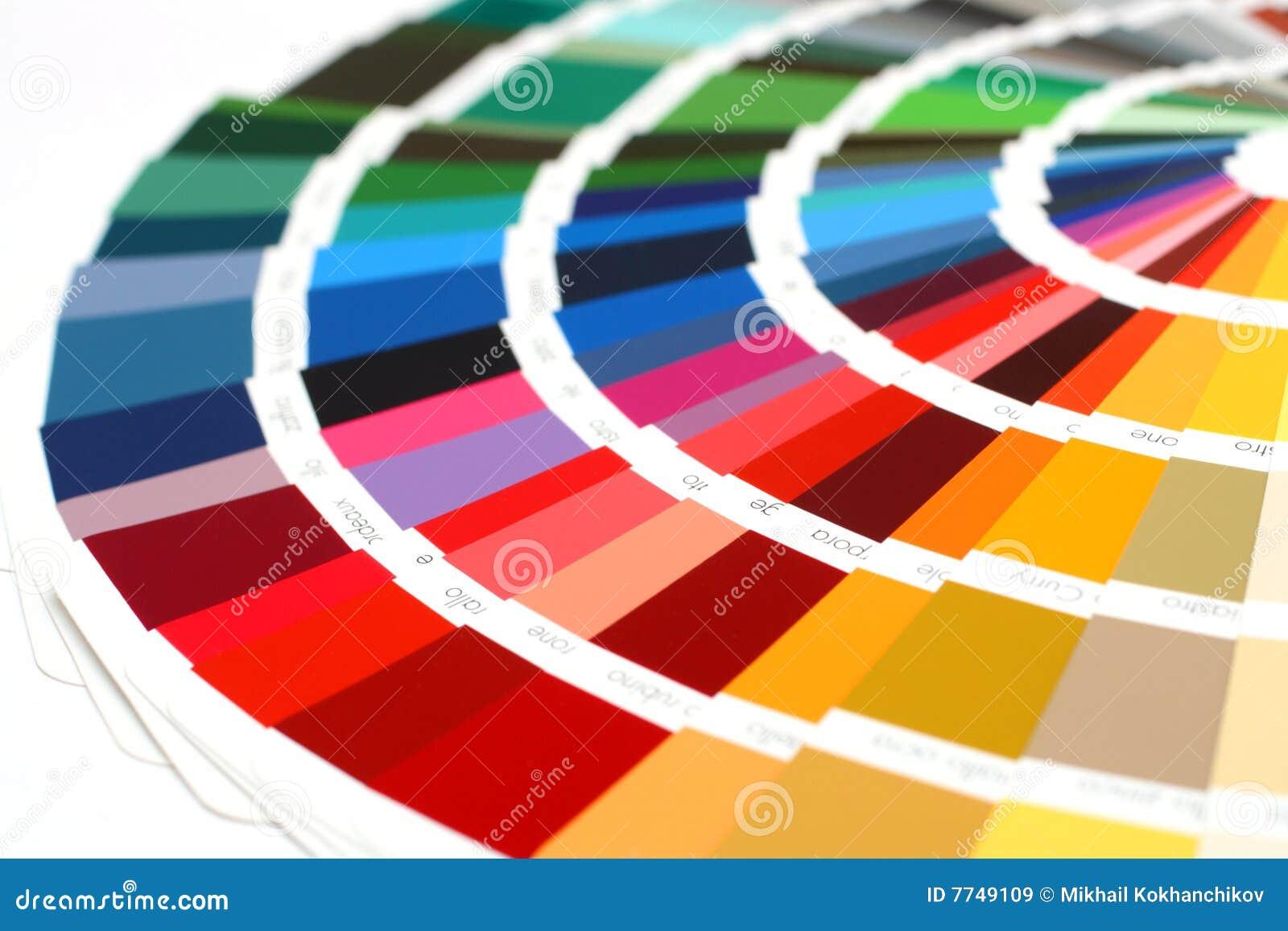 La muestra de RAL colorea el catálogo