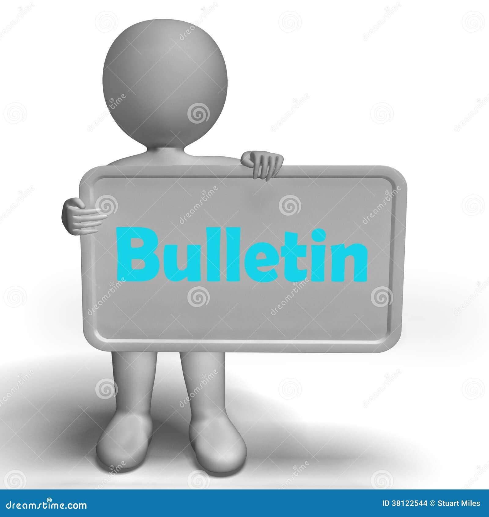 La muestra del boletín muestra la medios información o noticias