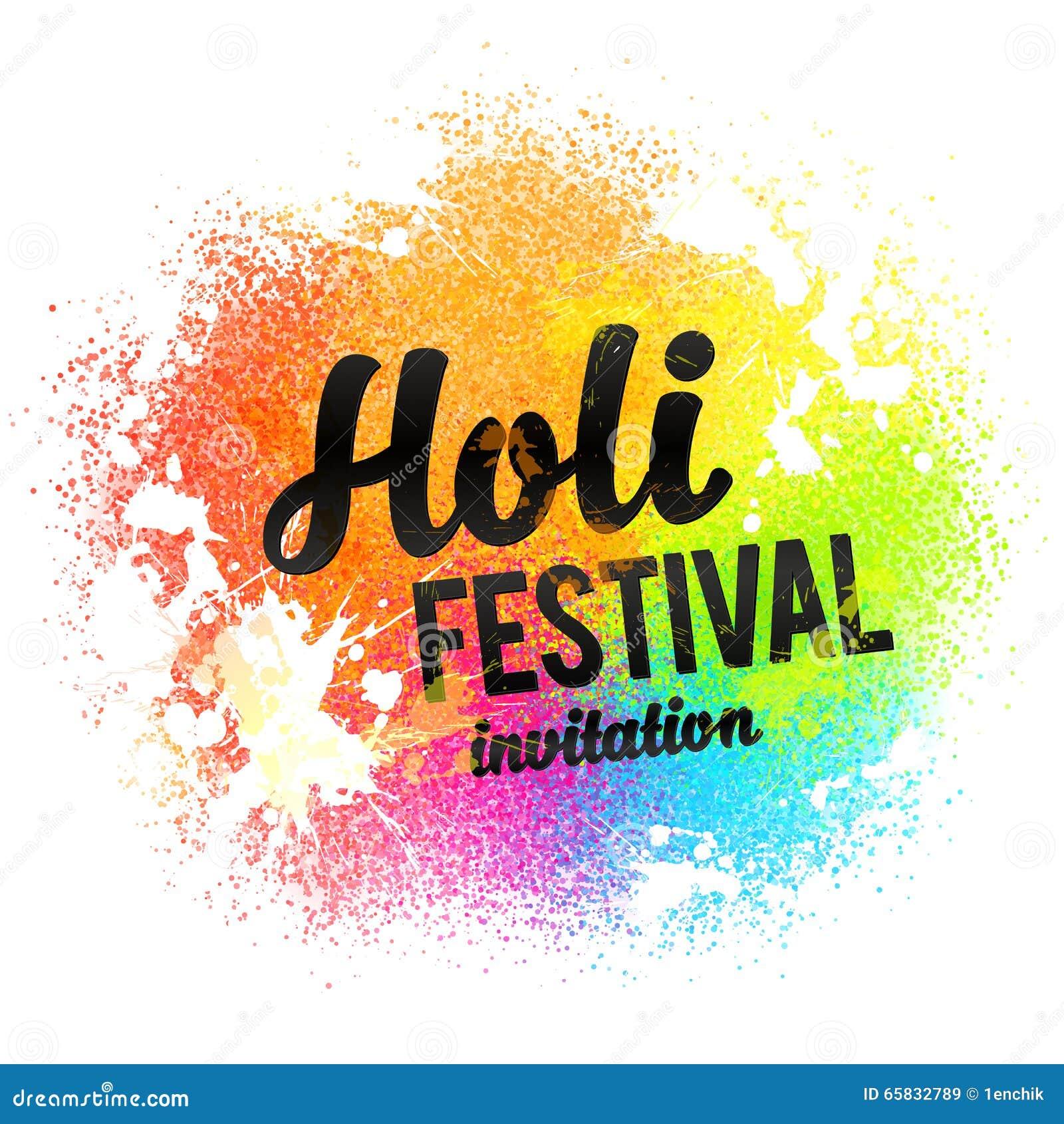 La Muestra Del Negro De La Invitación Del Festival De Holi En El ...