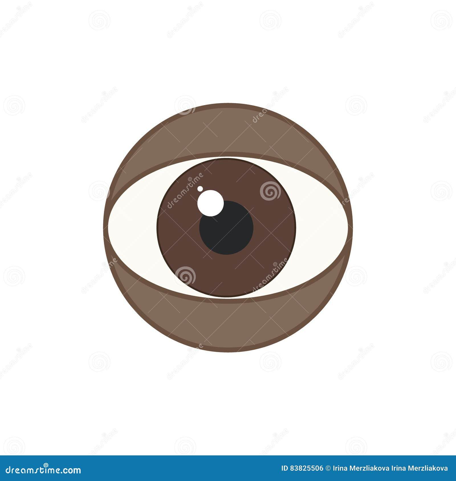 La muestra del ojo humano es afroamericano, ojos del marrón Vector la Florida