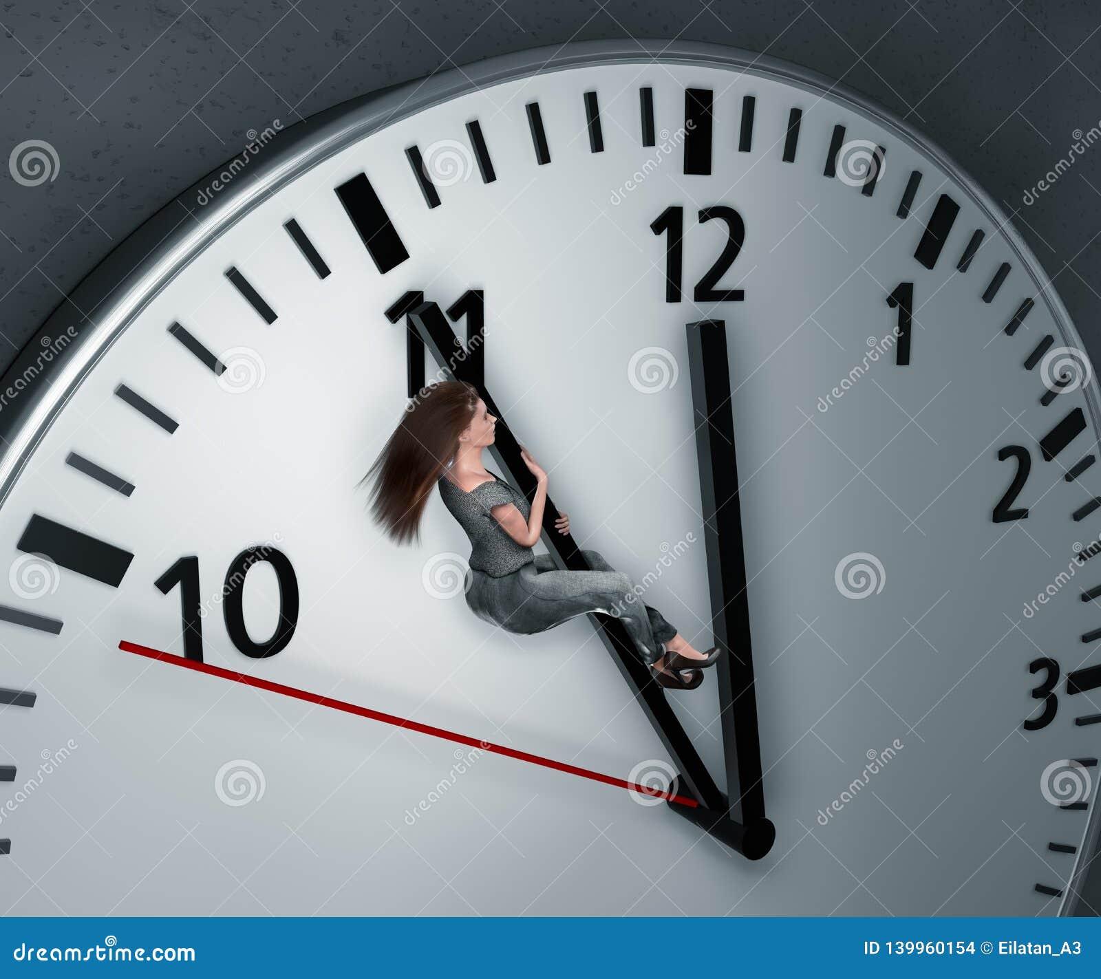 La mujer está intentando conseguir más tiempo