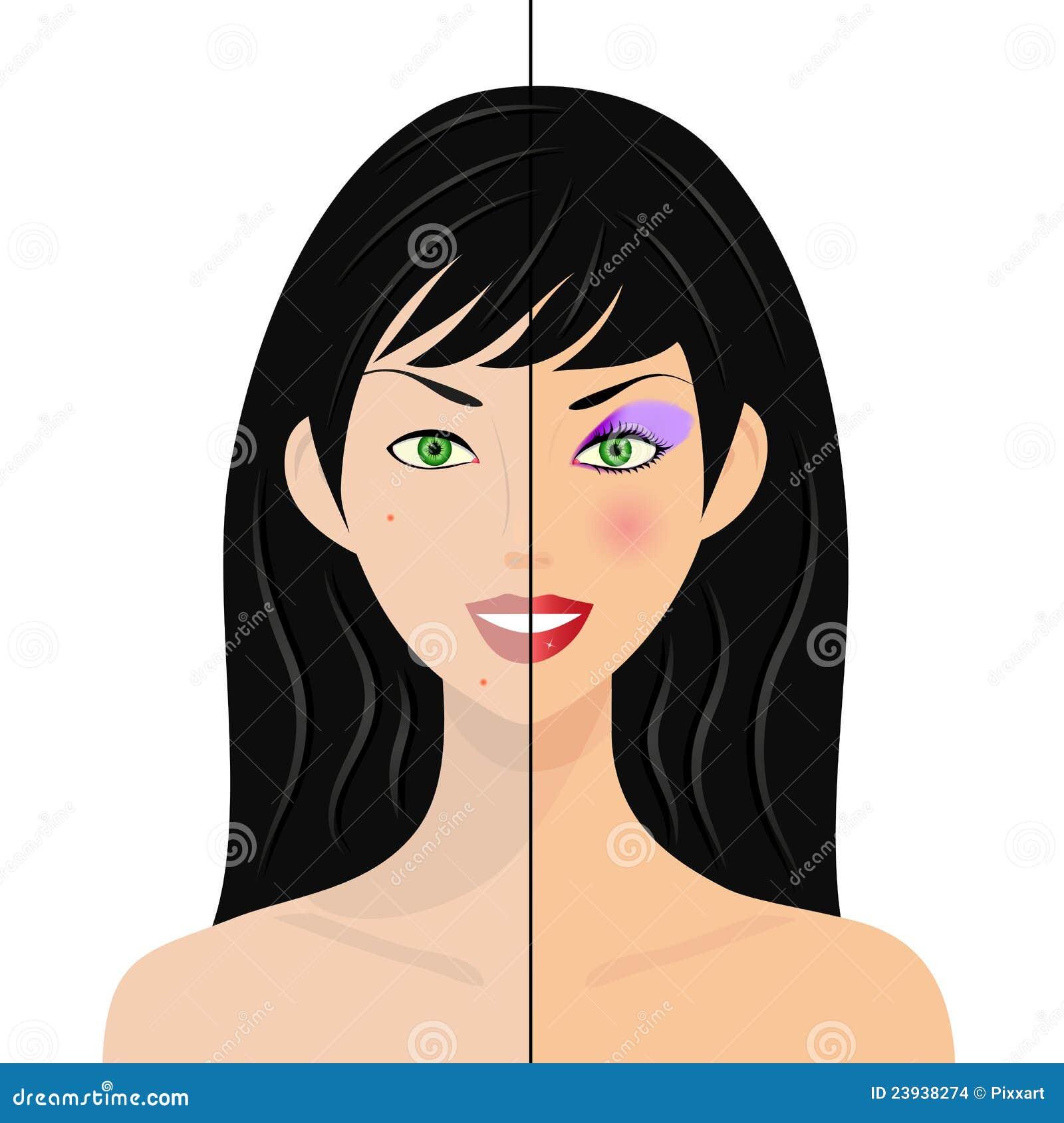 La mujer, medio natural, mitad con compone