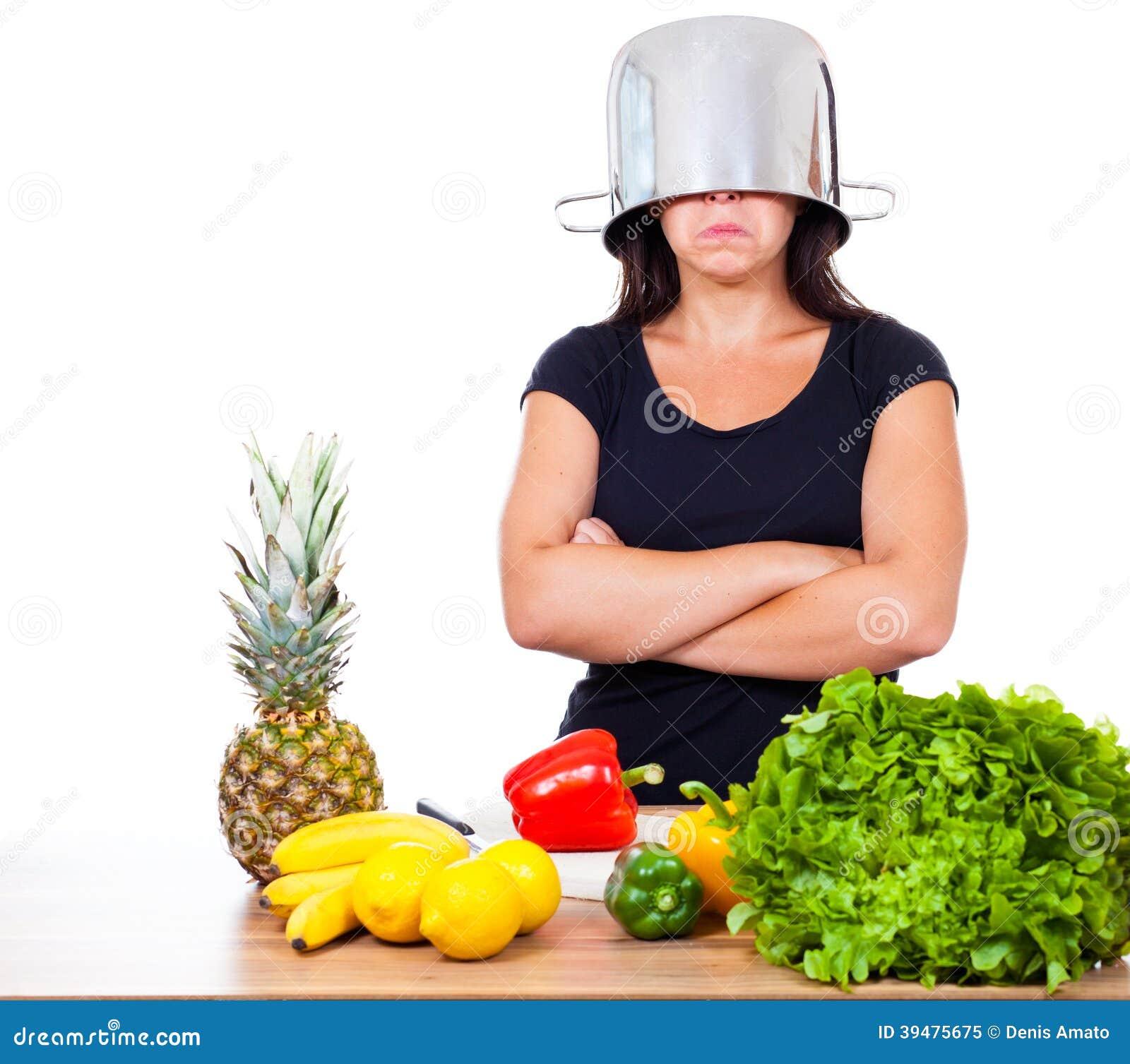 La mujer no quiere cocinar