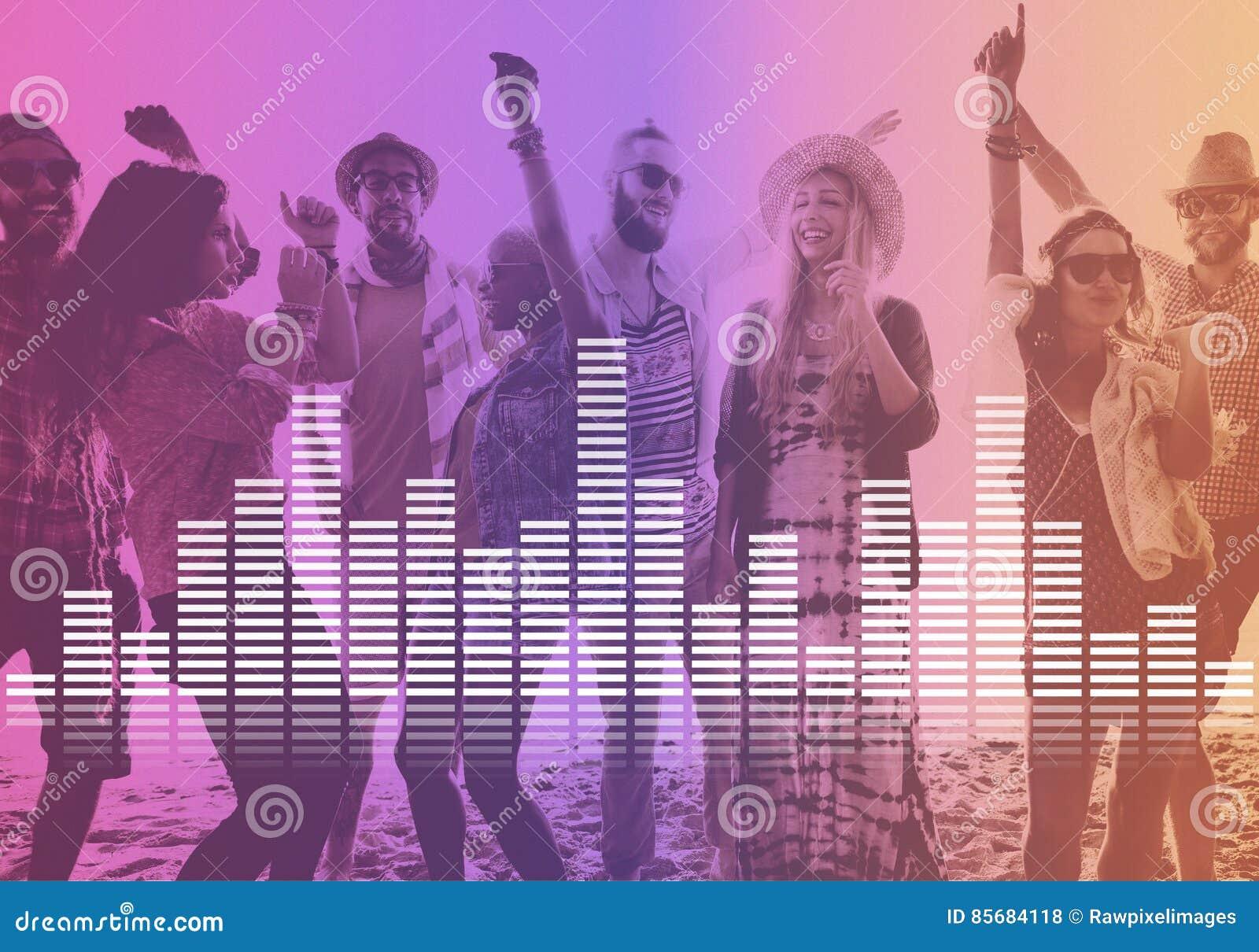 La musique audio d égaliseur de Digital accorde le concept de graphique d onde sonore
