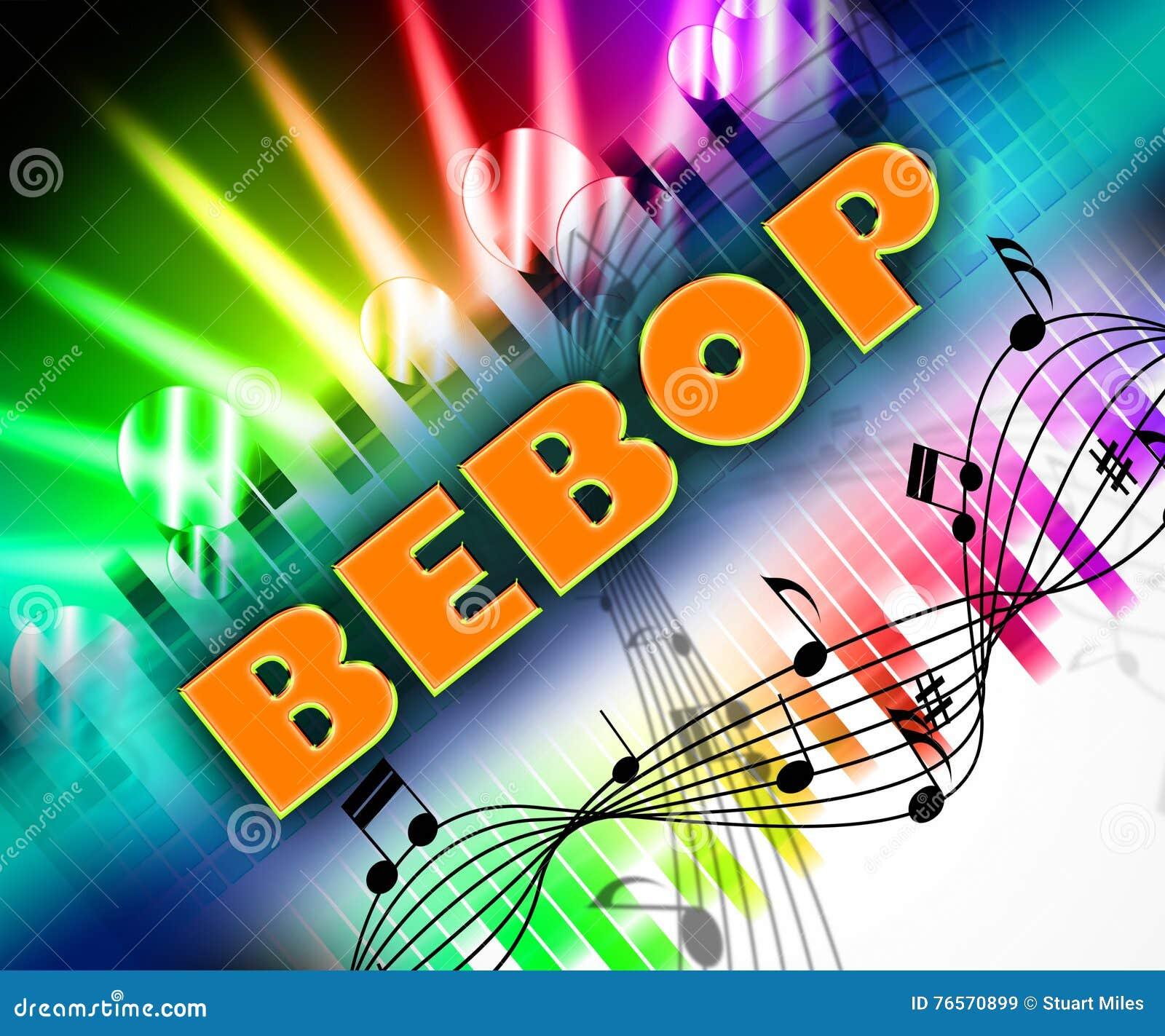 La musique de be-bop représente la piste audio et l Être-coup de poing