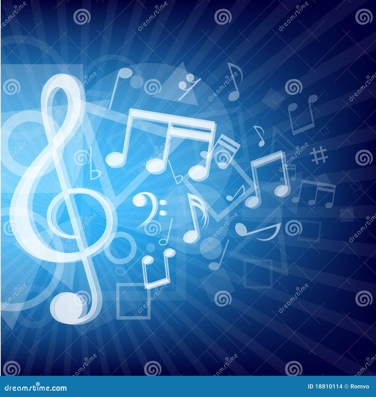 Notas, Azul, A Música, Pequeno Fresco PNG Imagem para ...