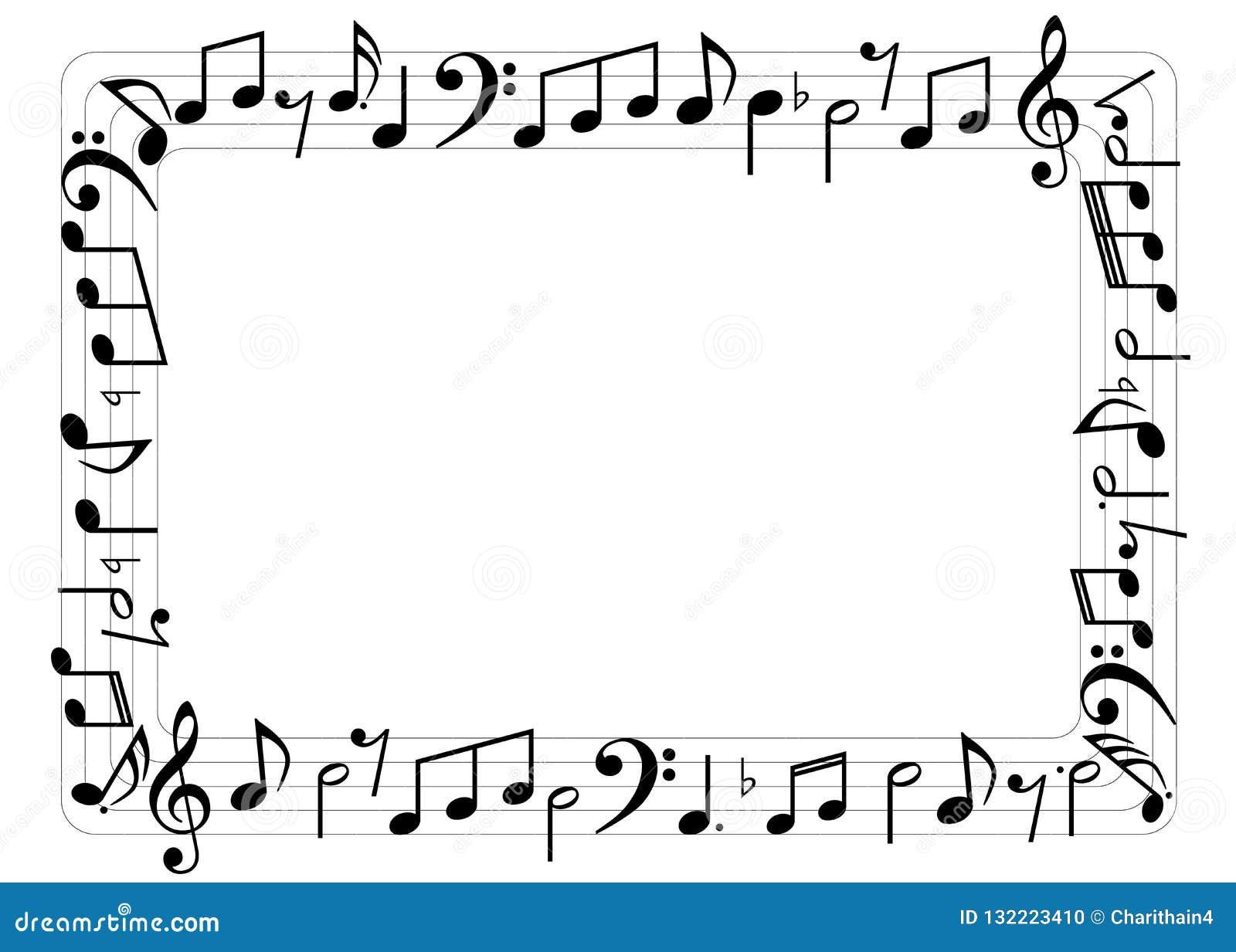 La musique note la frontière rectangulaire