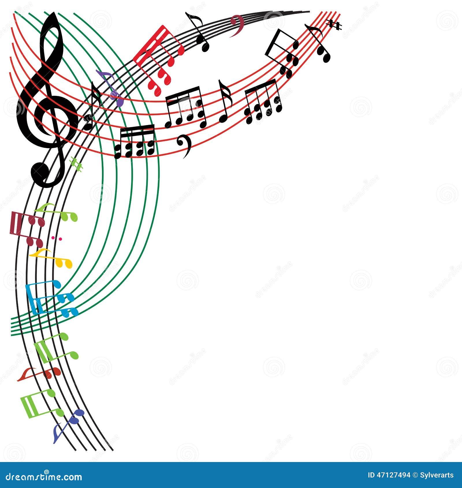 La musique note le fond, composition élégante en thème musical, vecto