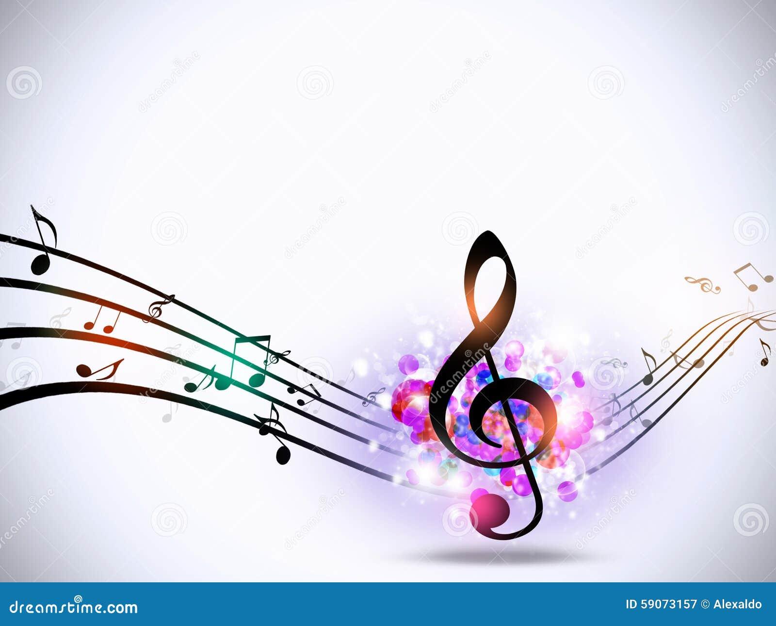 La Musique Note Le Fond G 233 Nial Lumineux Illustration Stock