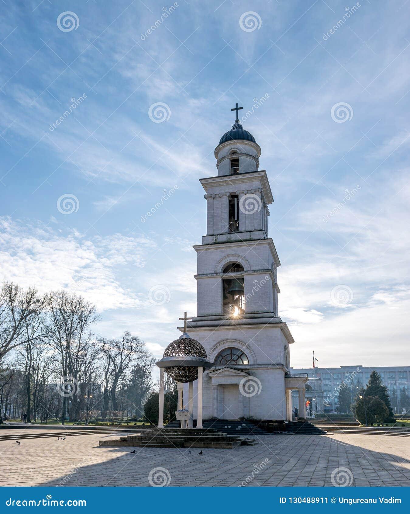 La natividad metropolitana de la catedral del señor, la catedral principal de la iglesia ortodoxa moldava en Chisinau central, el