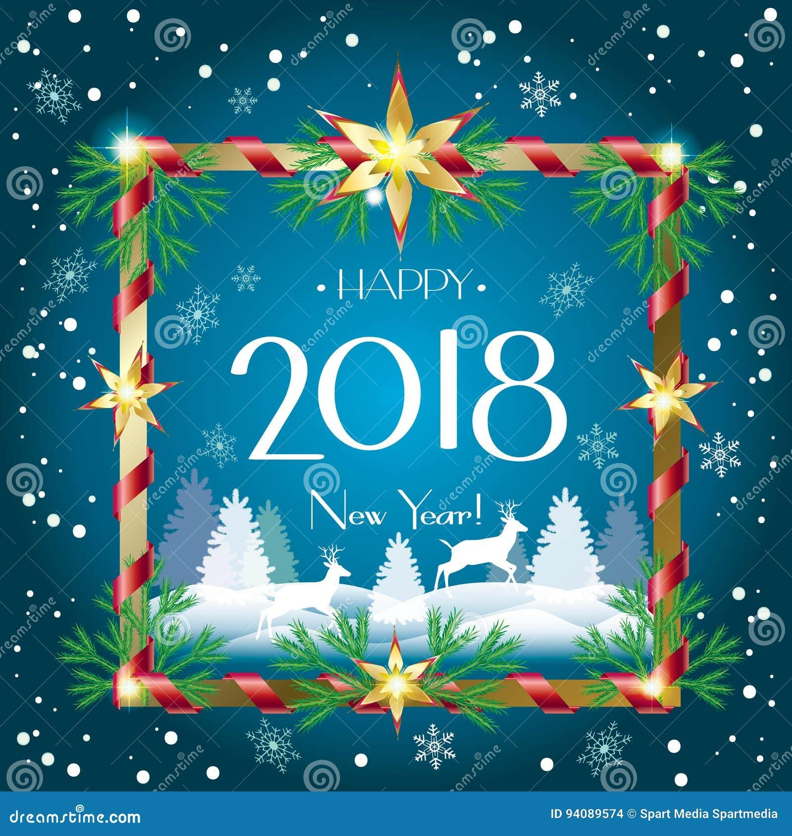 navidad 2018 imagenes La NAVIDAD 2018 ilustración del vector. Ilustración de holiday  navidad 2018 imagenes