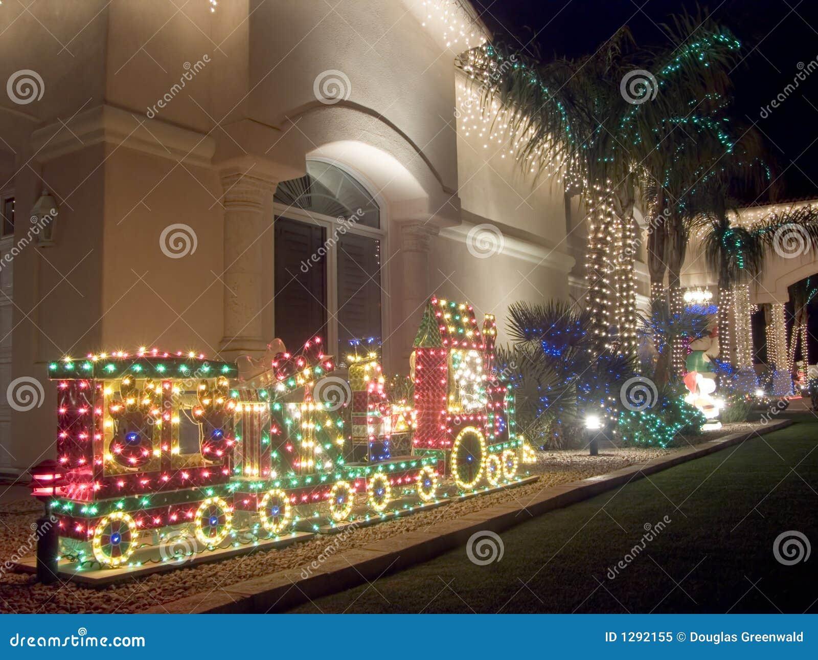 La Navidad al sudoeste adornó la casa