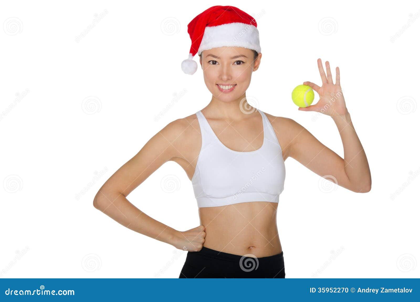La Navidad asiática con la pelota de tenis