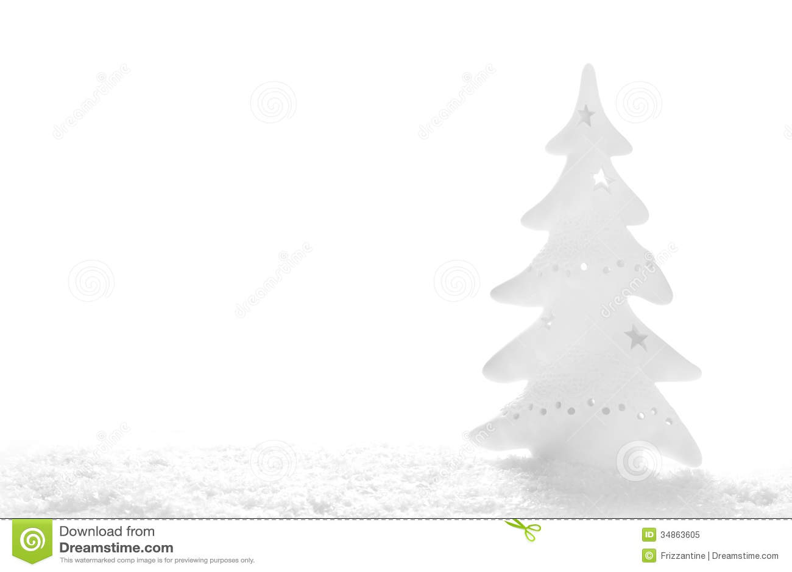 La Navidad Blanca: árbol Nevoso En El Fondo Blanco Imagen de archivo ...