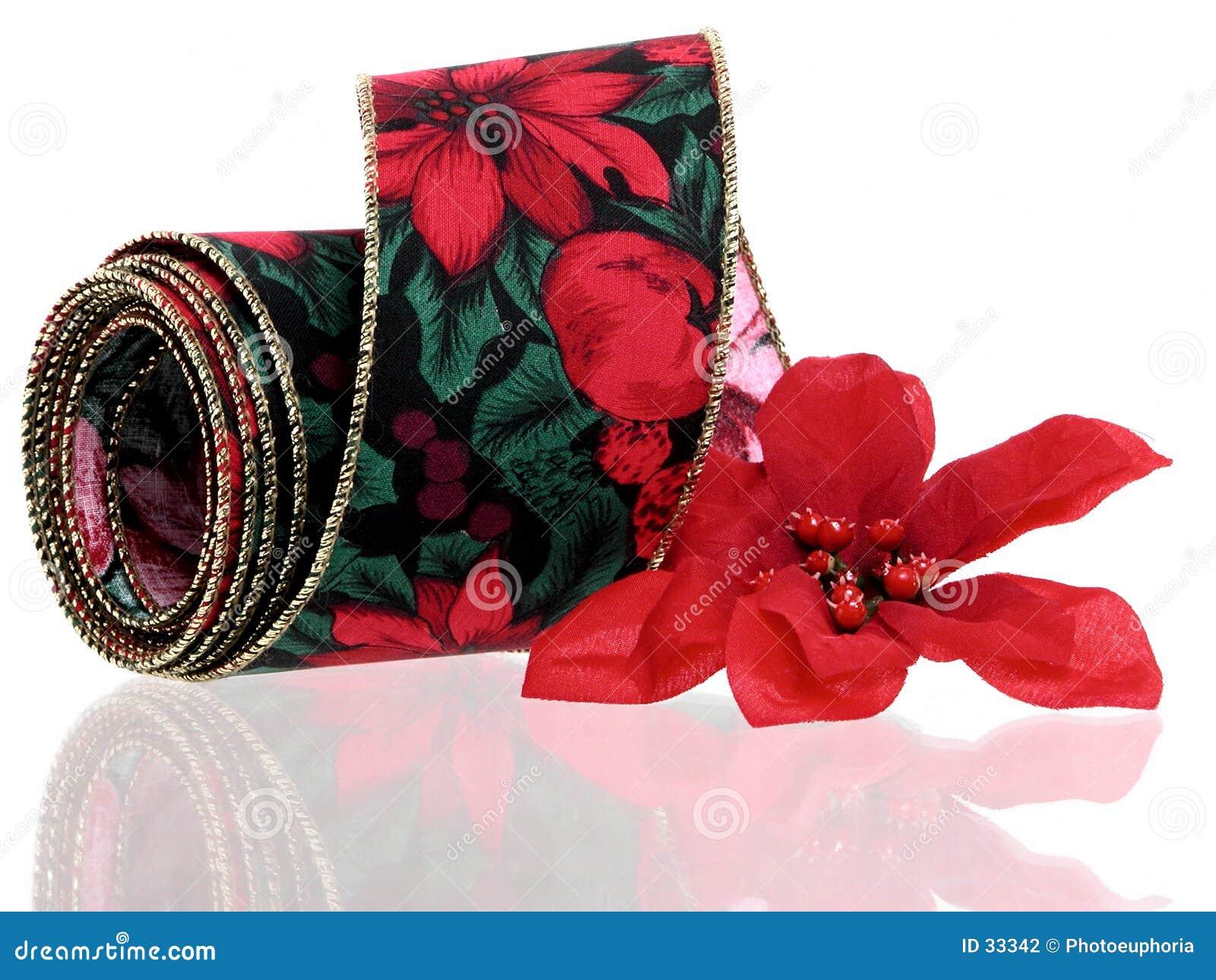 Download La Navidad: Cinta Decorativa Foto de archivo - Imagen de poinsettia, verde: 33342