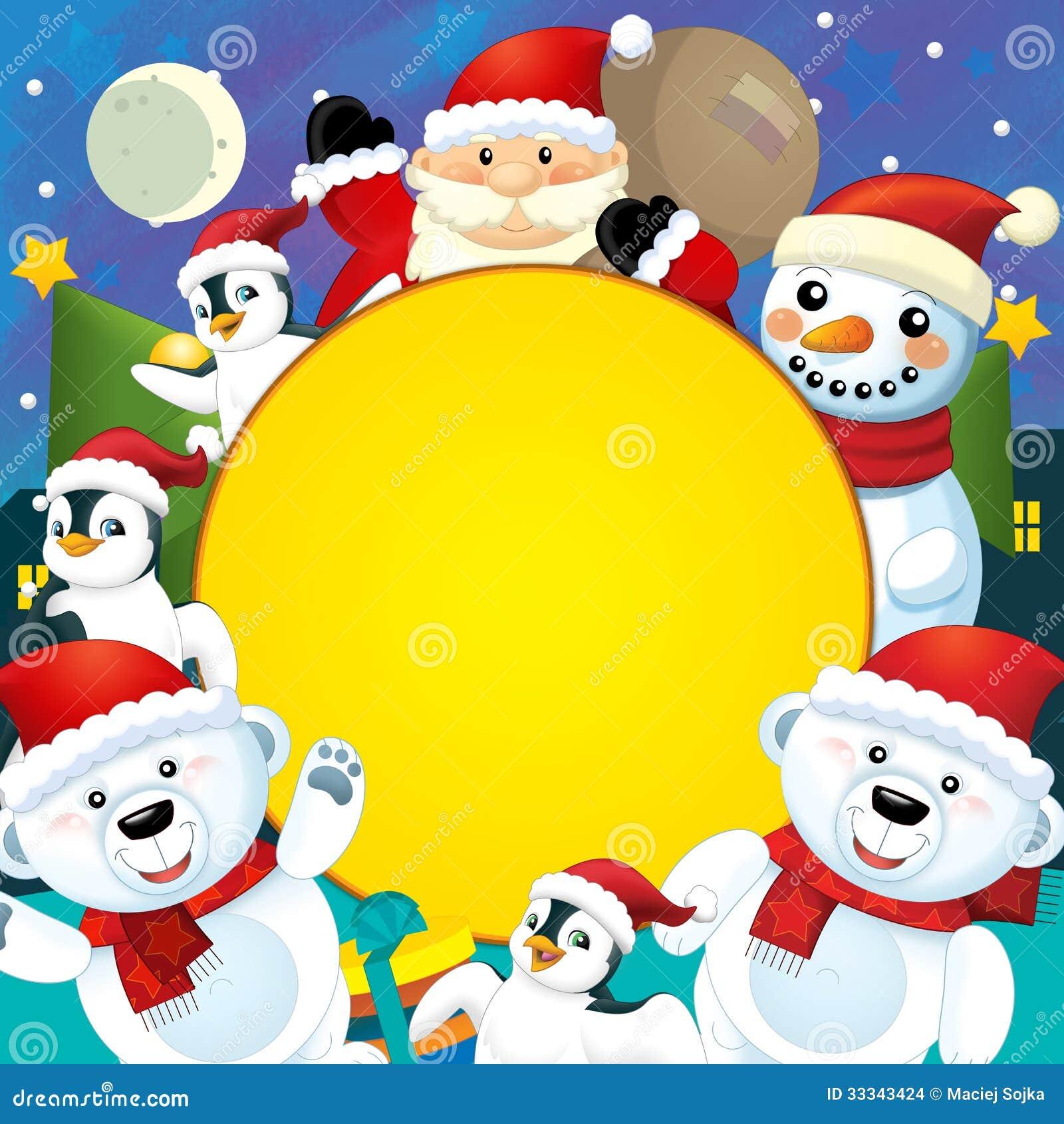 La navidad colorida tarjeta de felicitaci n ejemplo for Dibujos postales navidad ninos