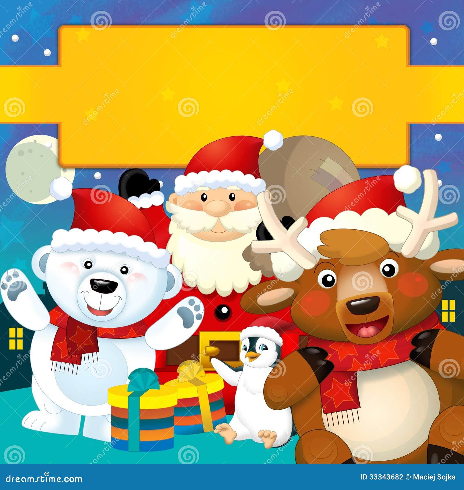 la navidad colorida tarjeta de felicitacin ejemplo para los nios fotografa de archivo