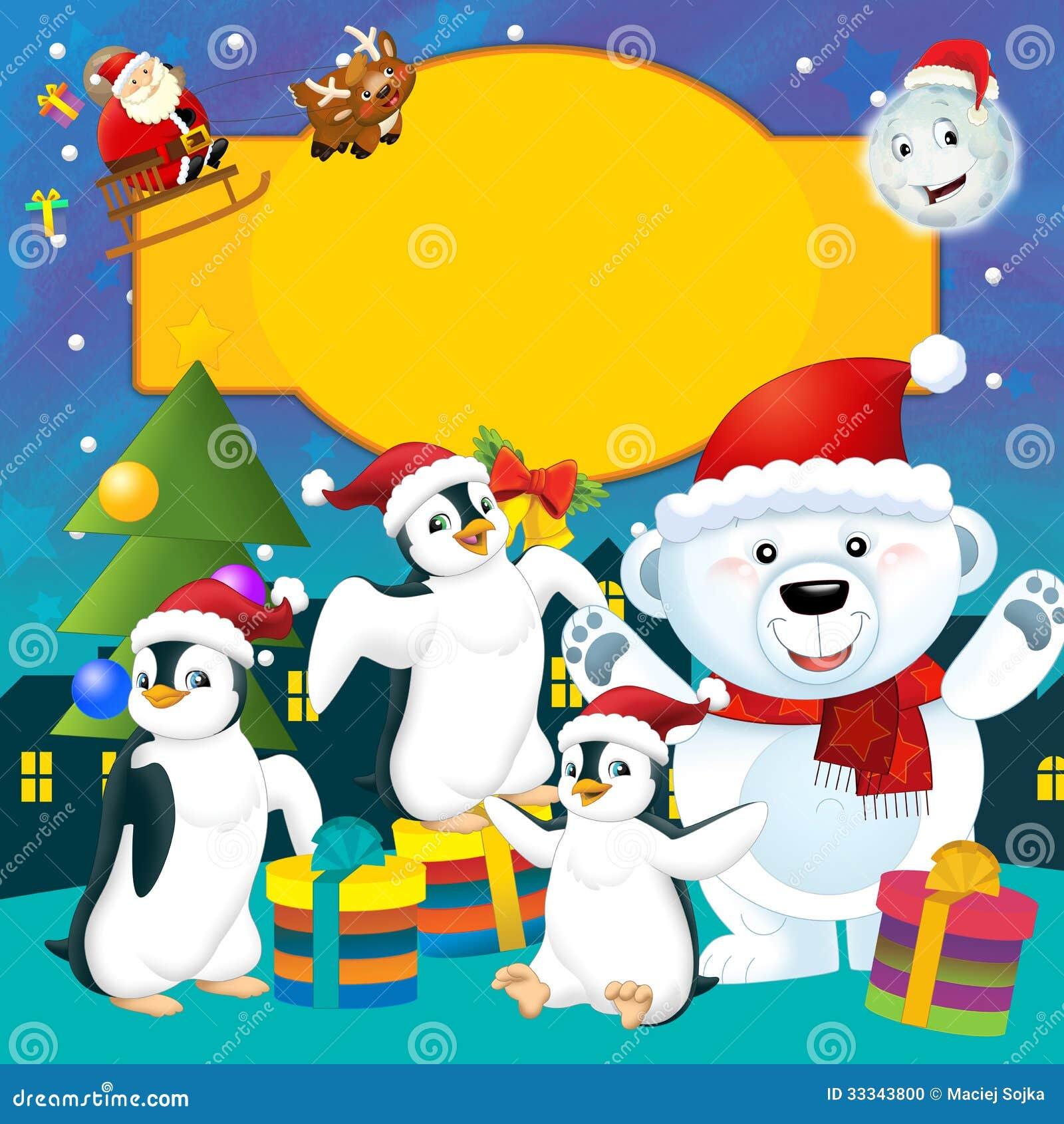 La Navidad Colorida Tarjeta De Felicitación Ejemplo Para