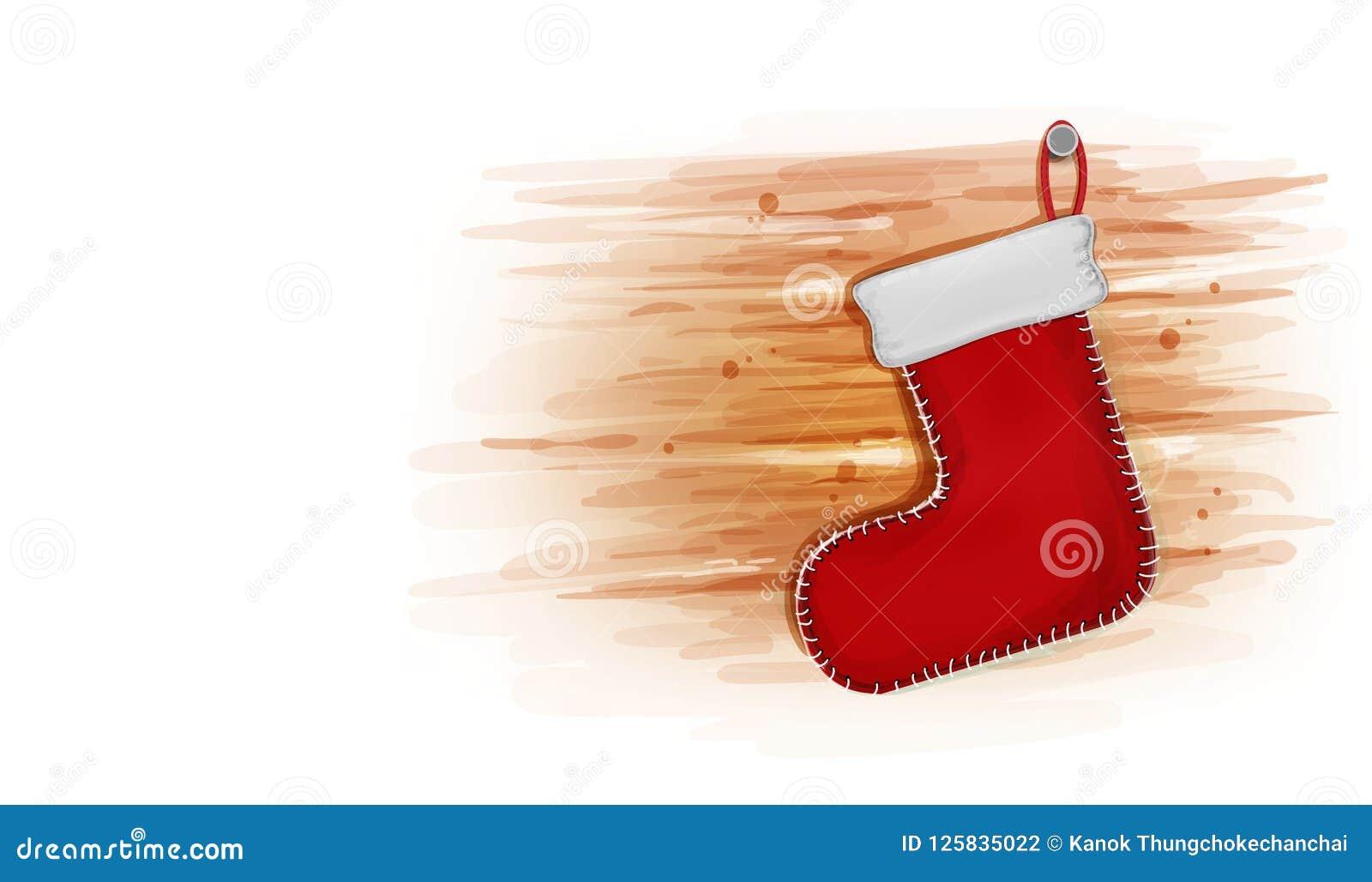 La Navidad Con Rojo Pega La Decoración Tarjeta De La