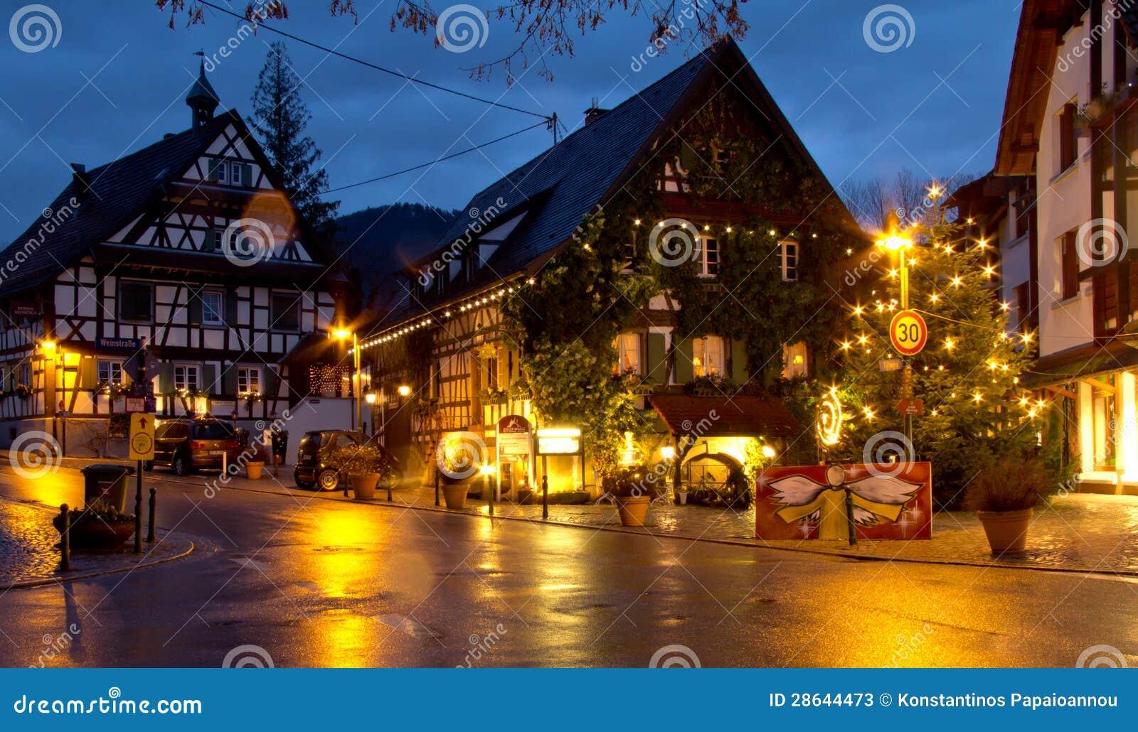 La navidad en haslach alemania foto de archivo editorial - Navidades en alemania ...
