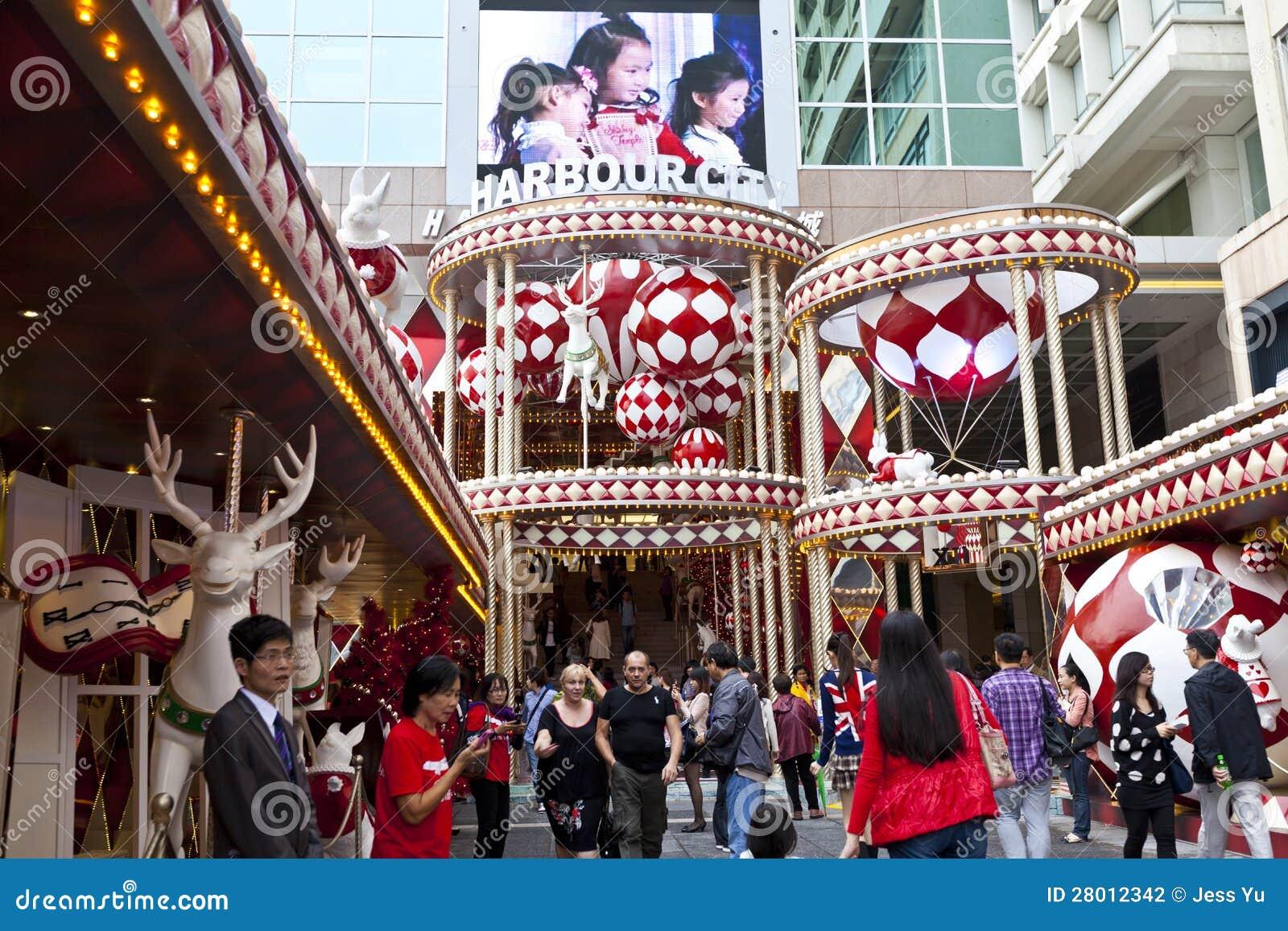 la navidad en hong kong fotografa editorial