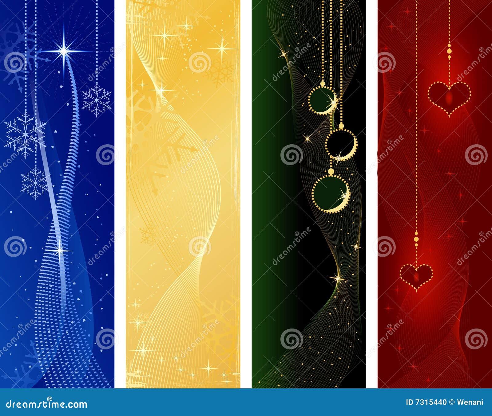 La Navidad festiva, banderas del invierno