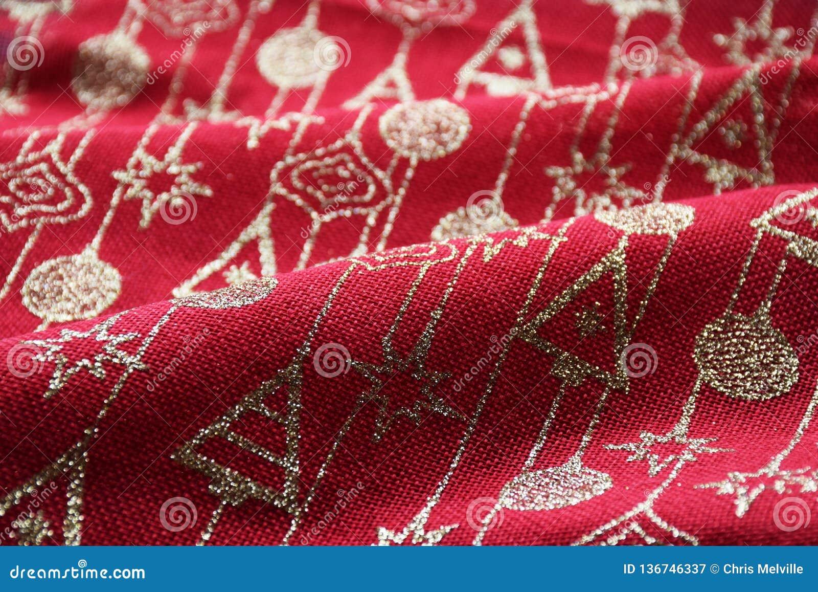 La Navidad roja y del oro modeló el fondo material