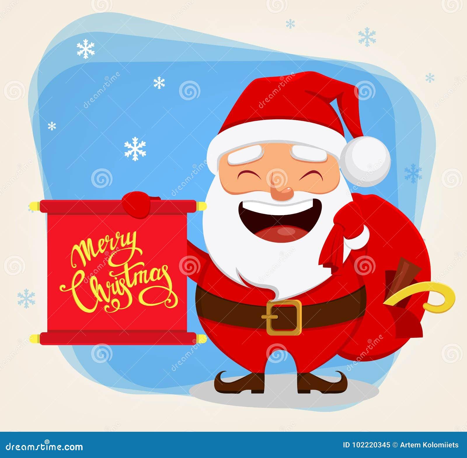 Imagenes De Papa Noel Animado.La Navidad Santa Claus Personaje De Dibujos Animados