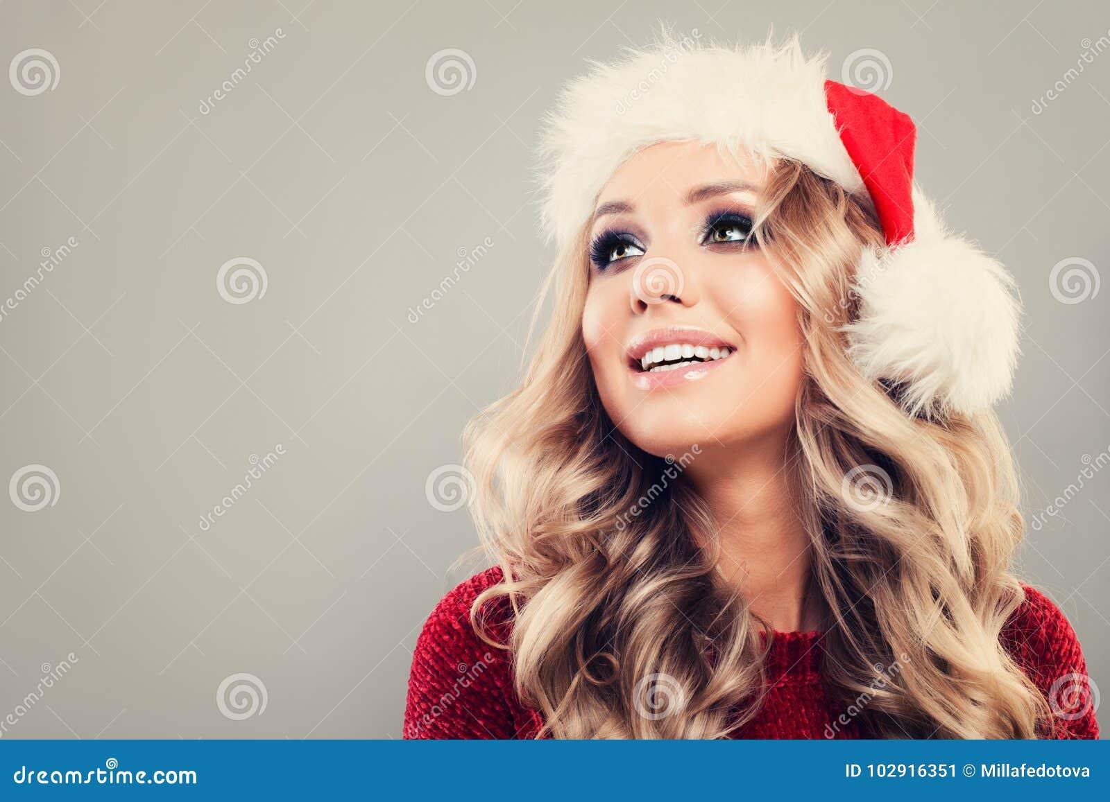 La Navidad Woman Looking Up modelo