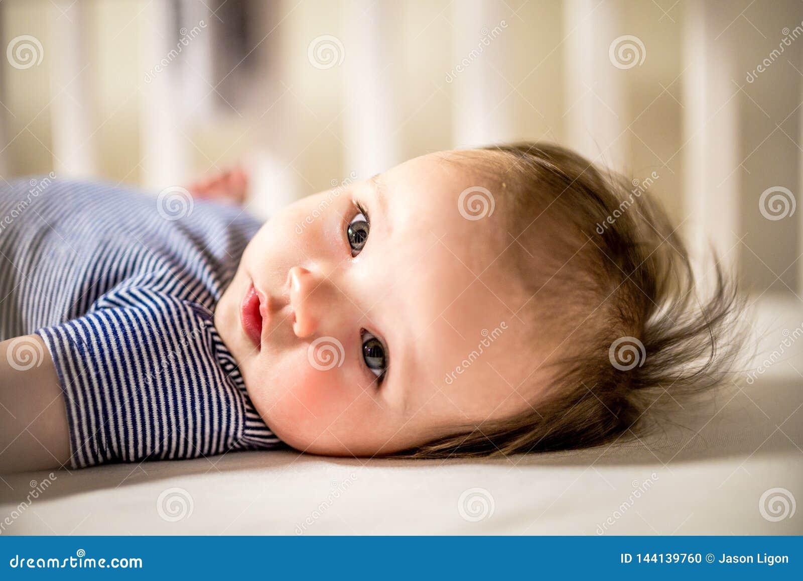 La neonata adorabile risiede in greppia