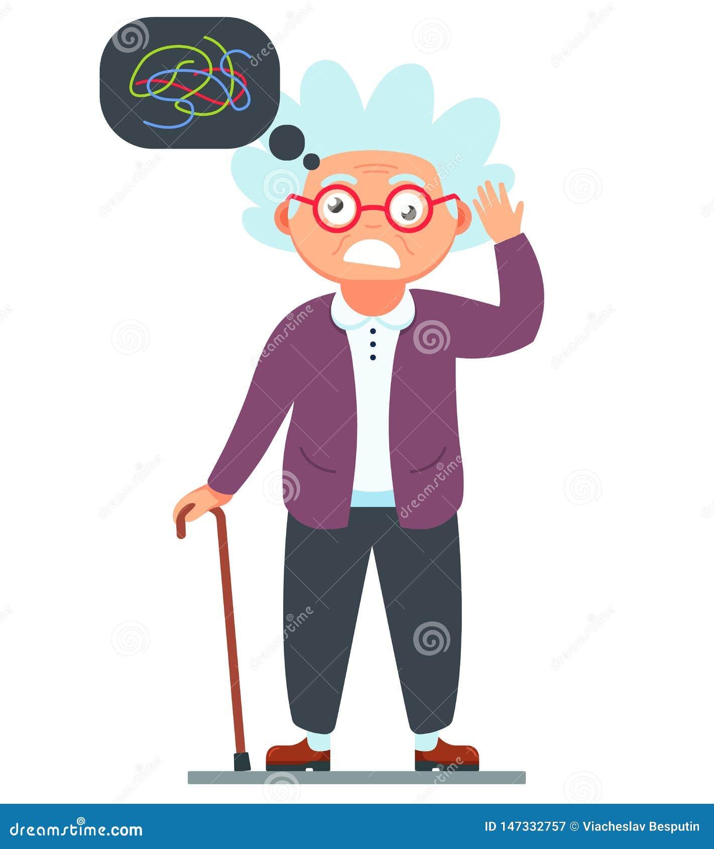 La nonna è pazza demenza di una donna