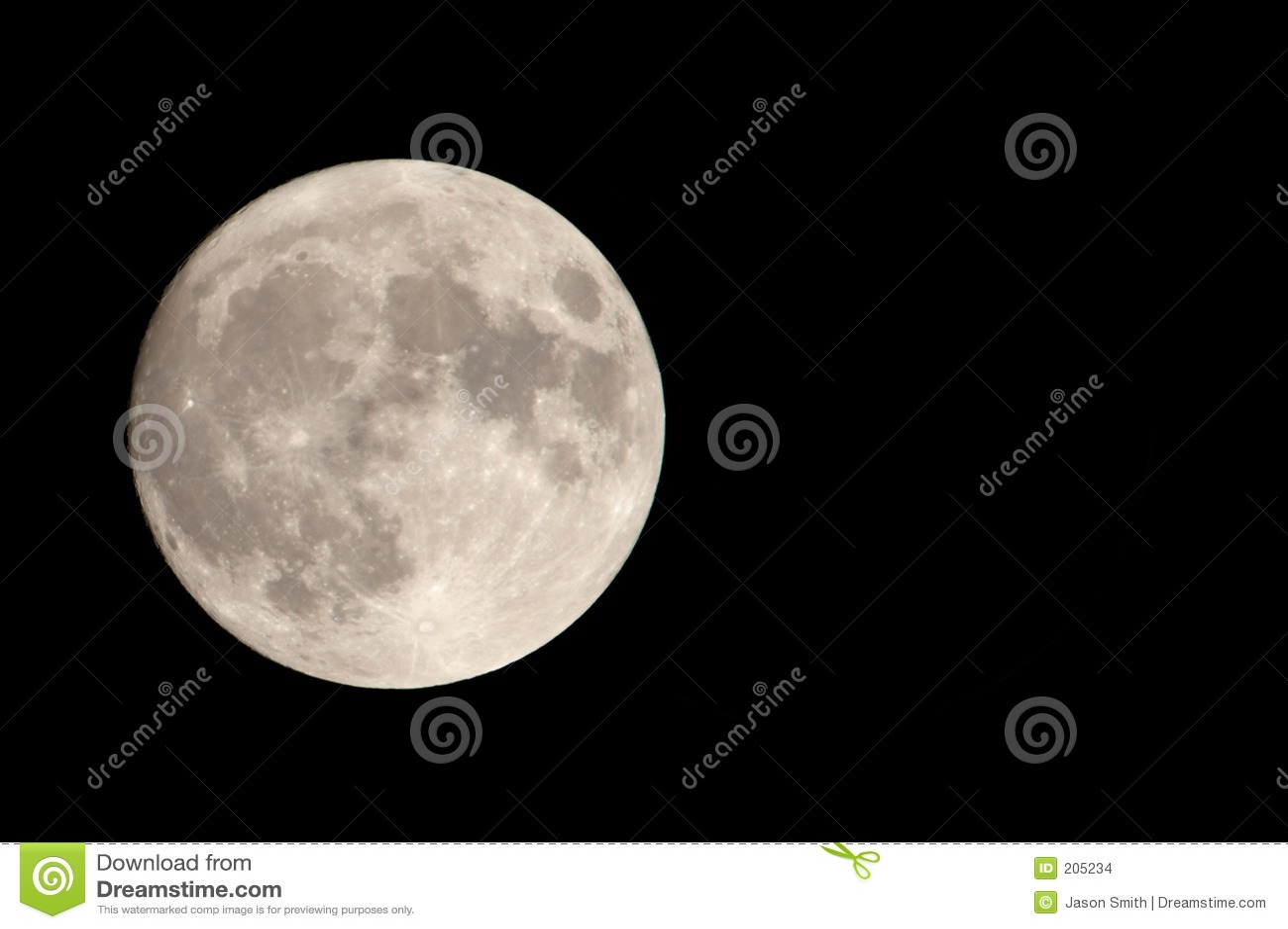 La nostra luna con spazio negativo
