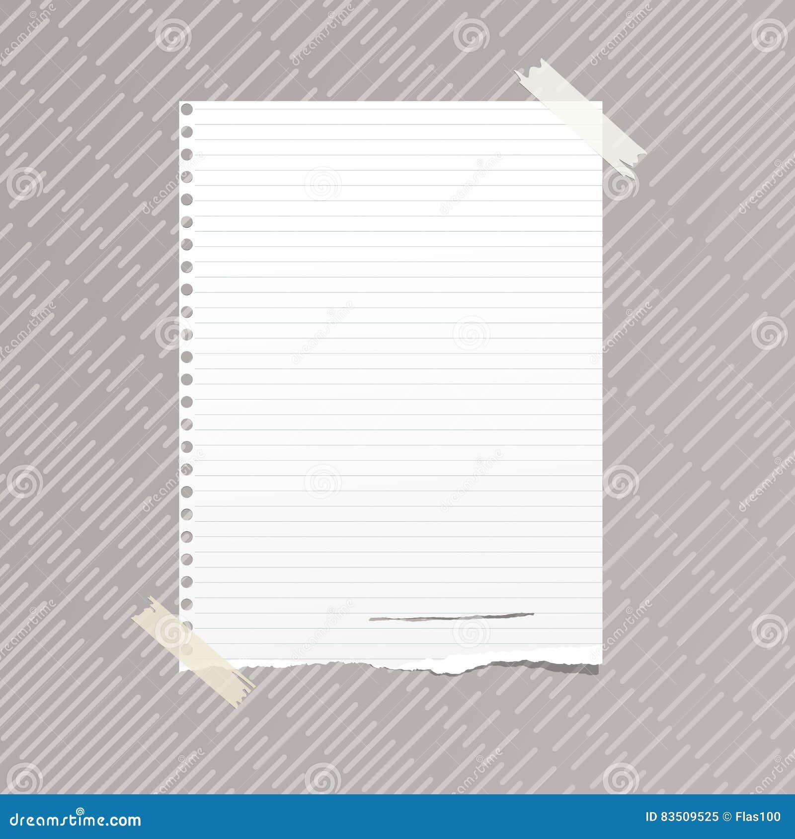 la note ordonn e blanche d chir e carnet feuille de papier commune a coll sur le mod le ray. Black Bedroom Furniture Sets. Home Design Ideas