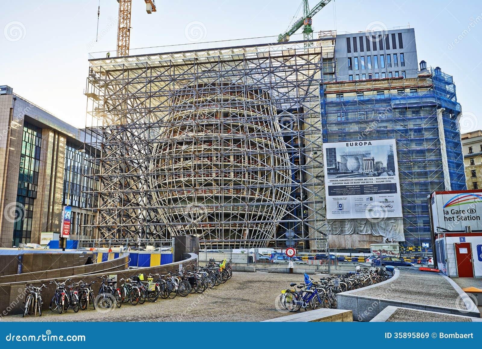 La Nouvelle Construction De B Timents D 39 Europa Image Stock