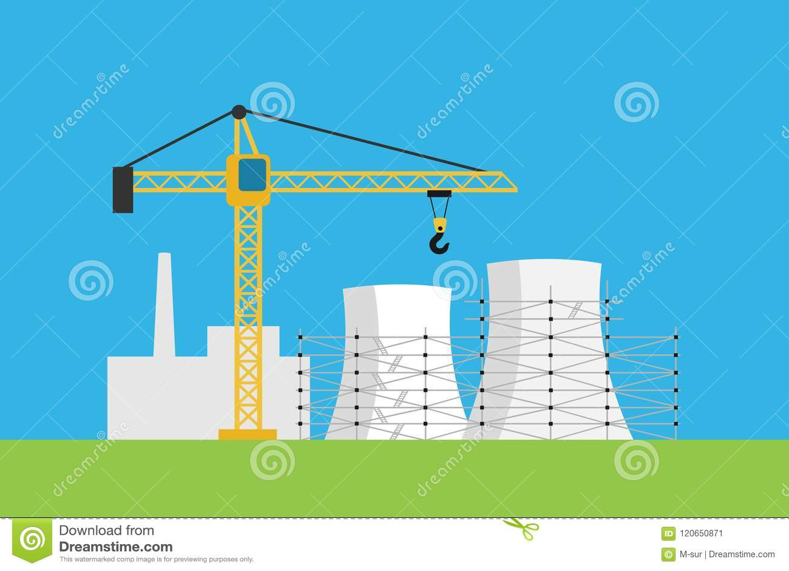 La Nuevas Central Nuclear Y Central Eléctrica Es Estructura