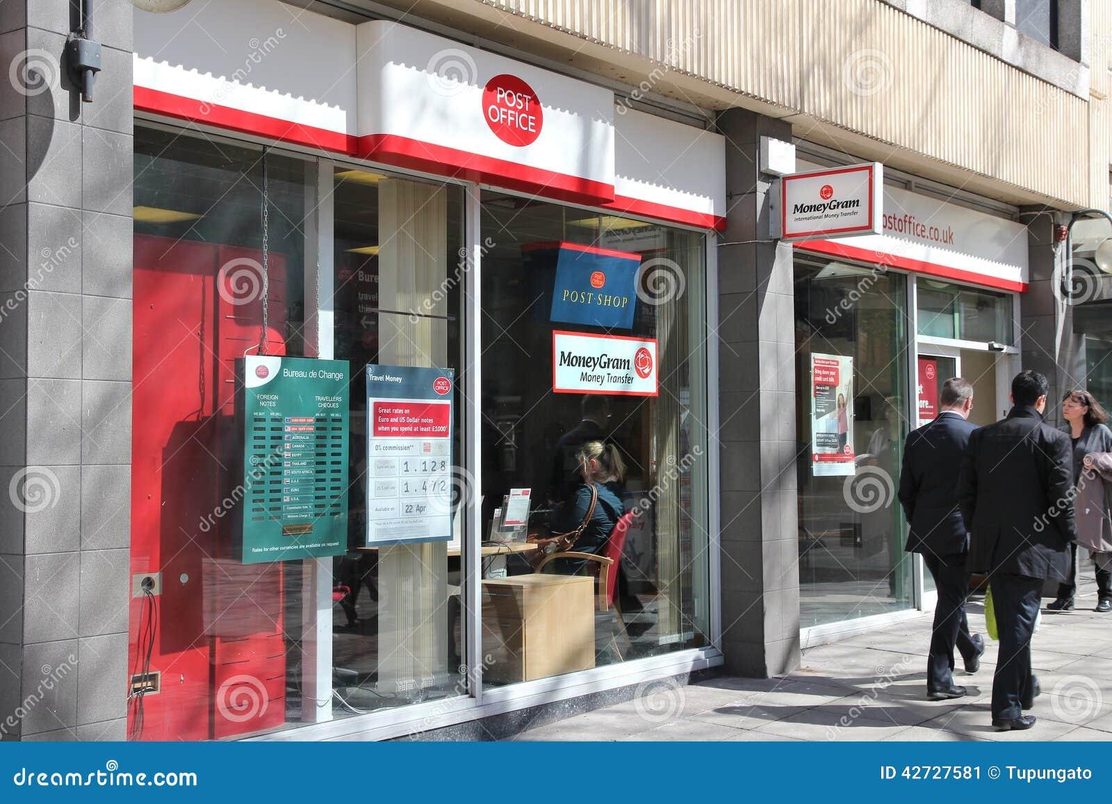 La oficina de correos en Reino Unido