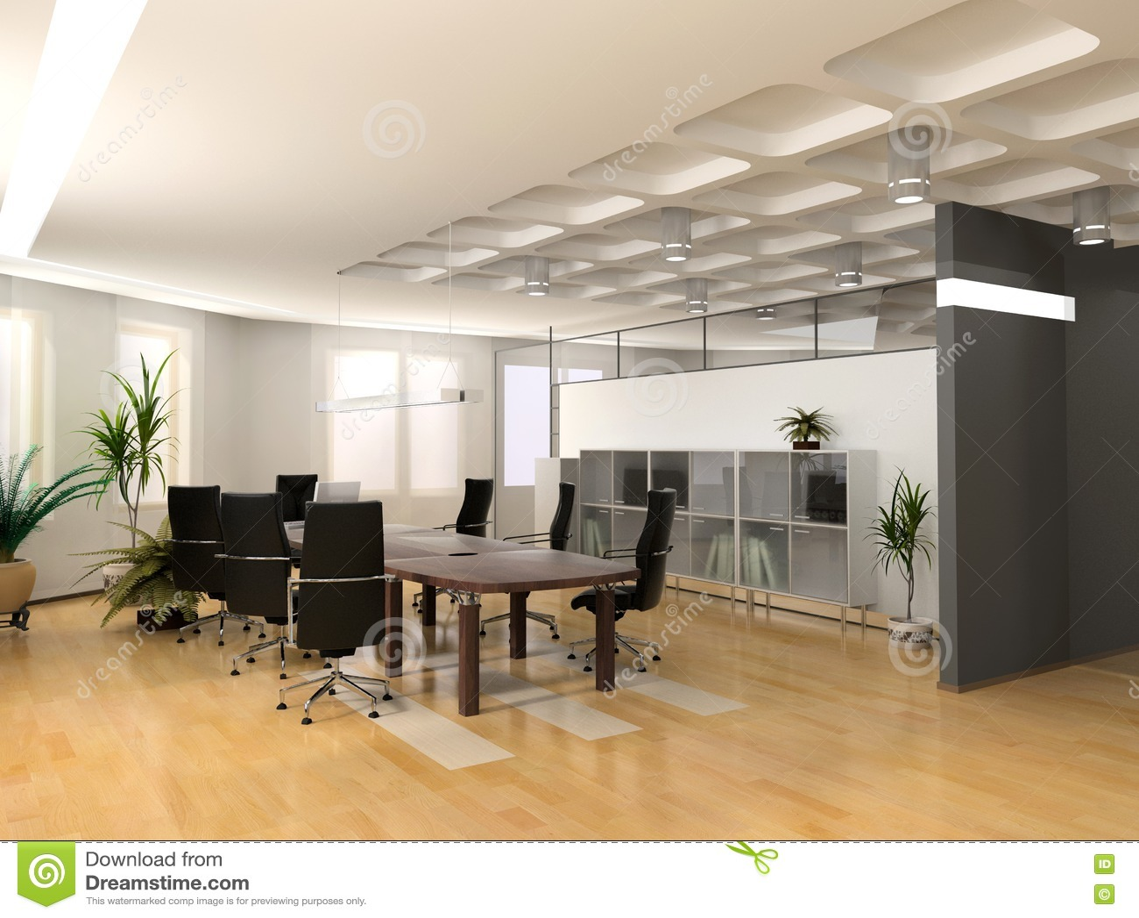 La oficina moderna stock de ilustraci n ilustraci n de for Interior oficinas modernas