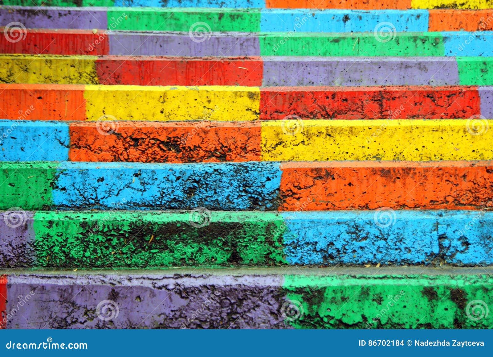 La opinión sobre las escaleras del arco iris