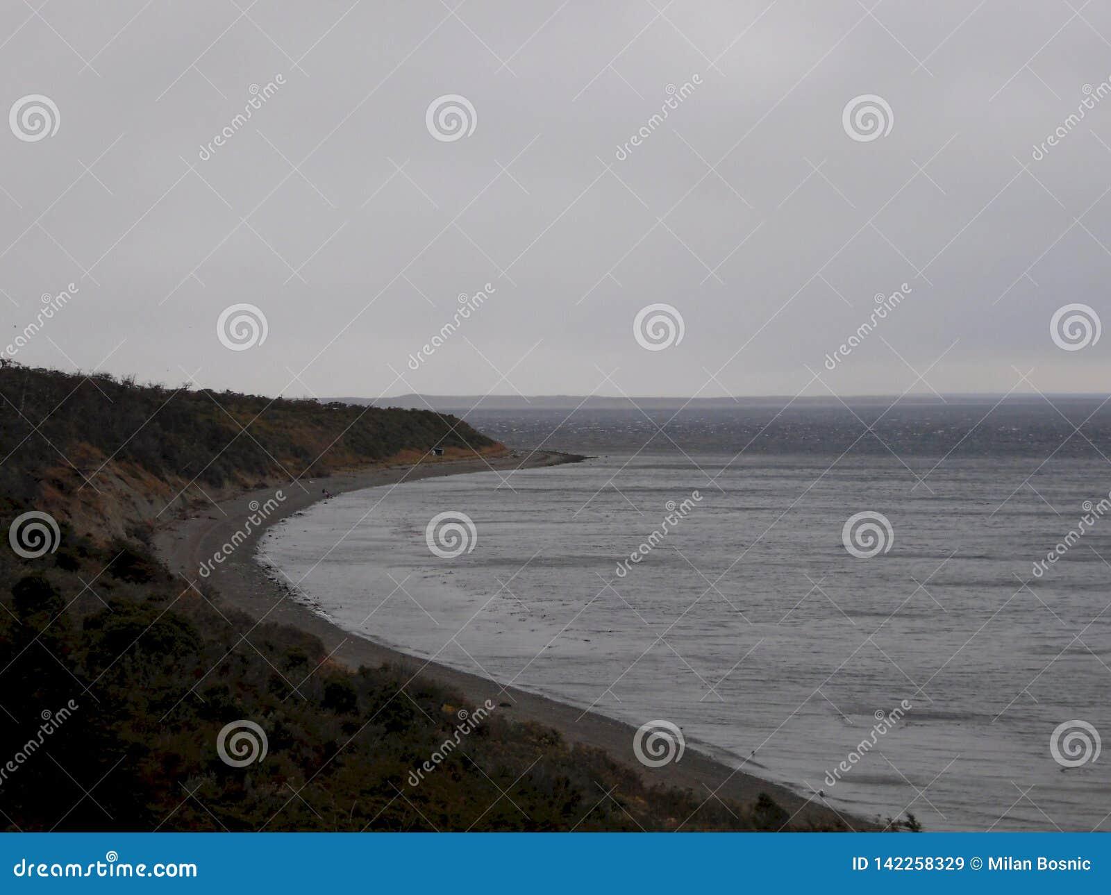 La orilla del Océano Pacífico desde arriba