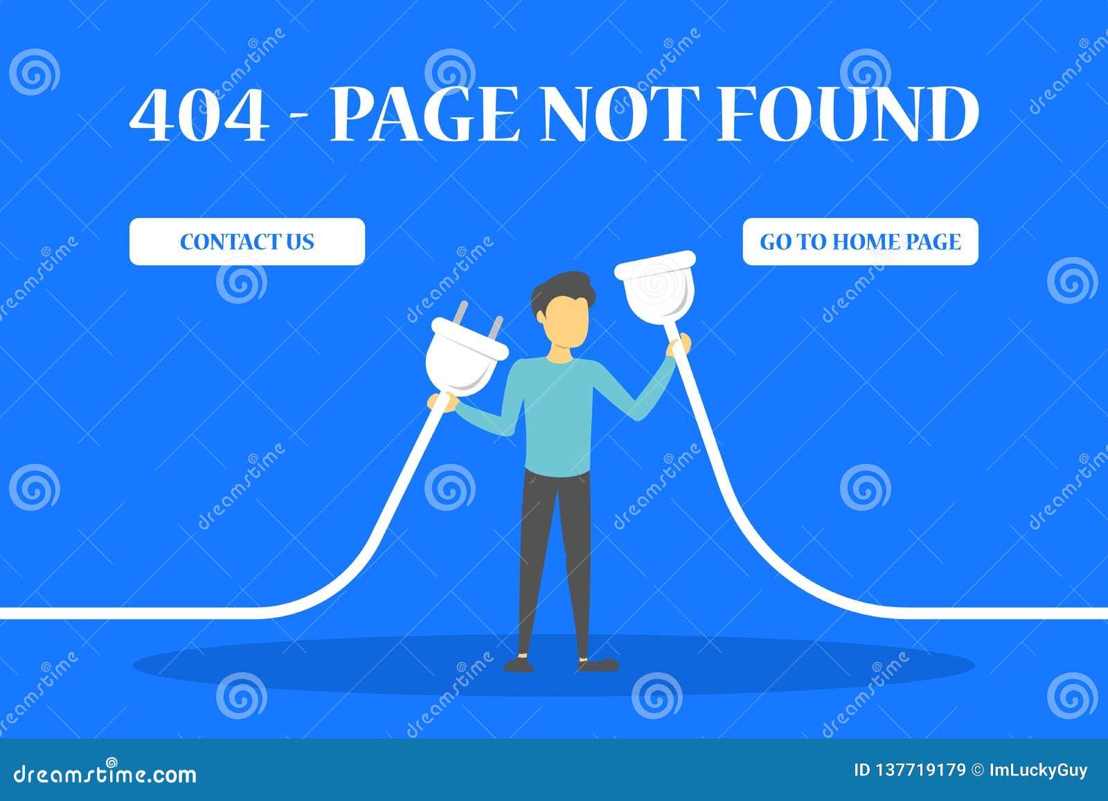 La página de 404 errores no encontró la bandera para la página web