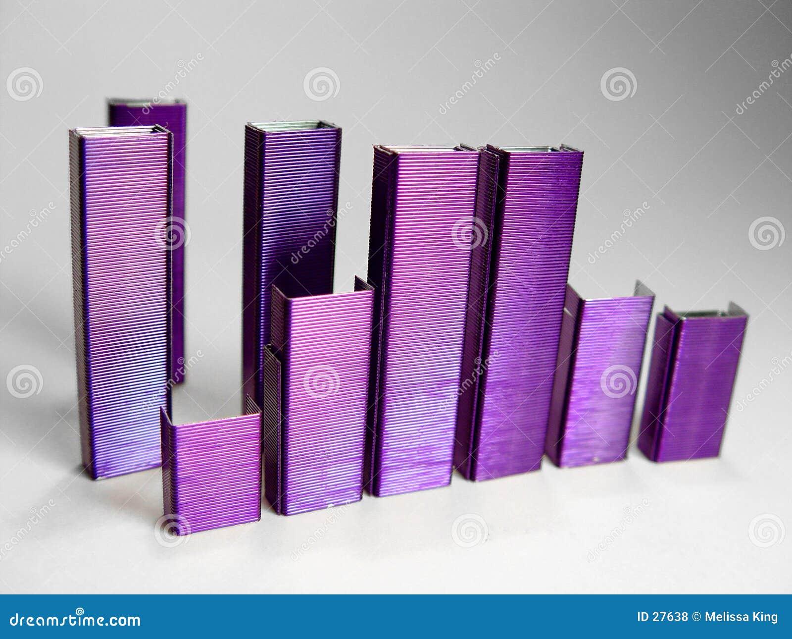 La púrpura abstracta sujeta con grapa II