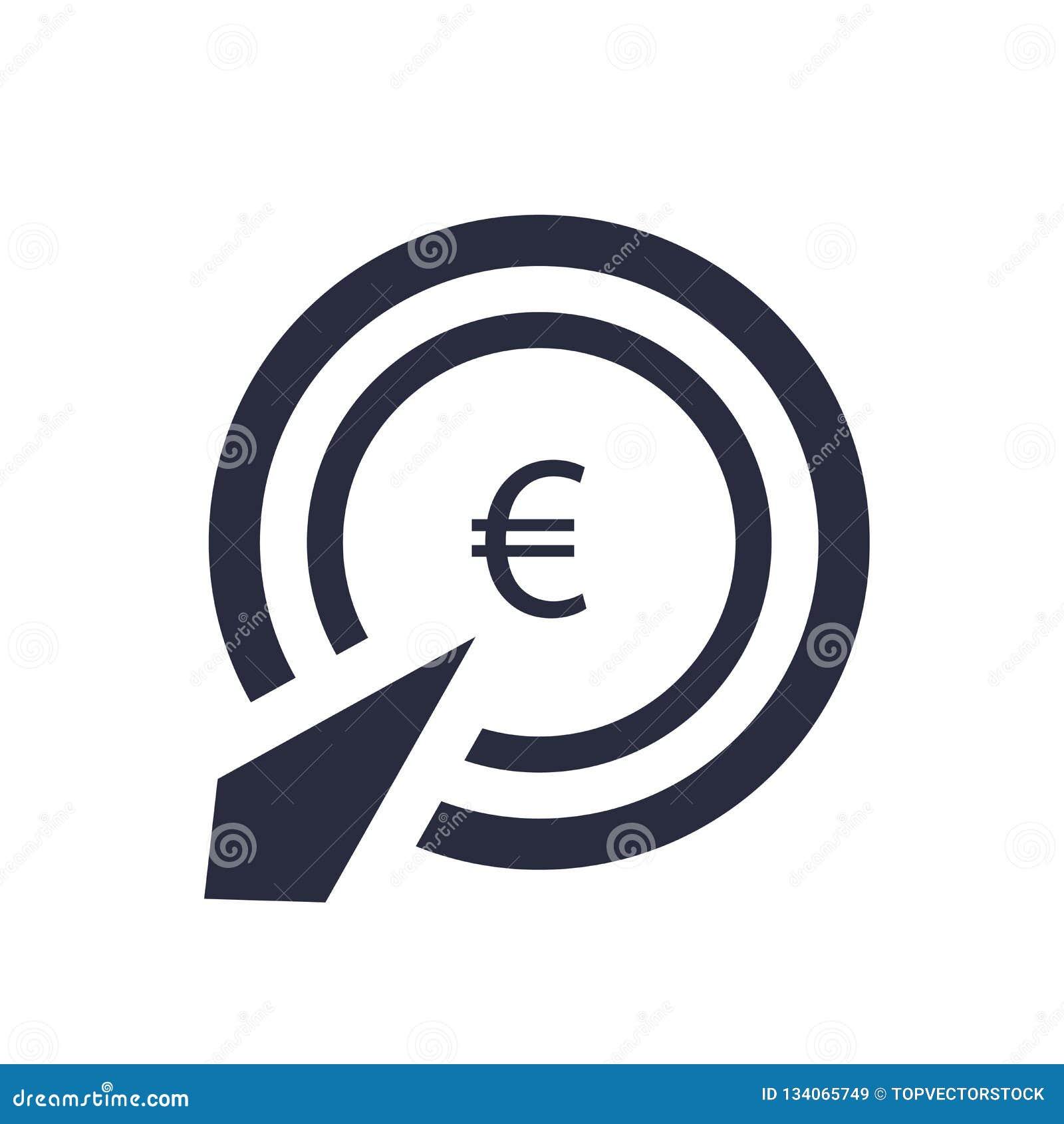 La paga por muestra del vector del icono del tecleo y el símbolo aislado en el fondo blanco, pagan por concepto del logotipo del